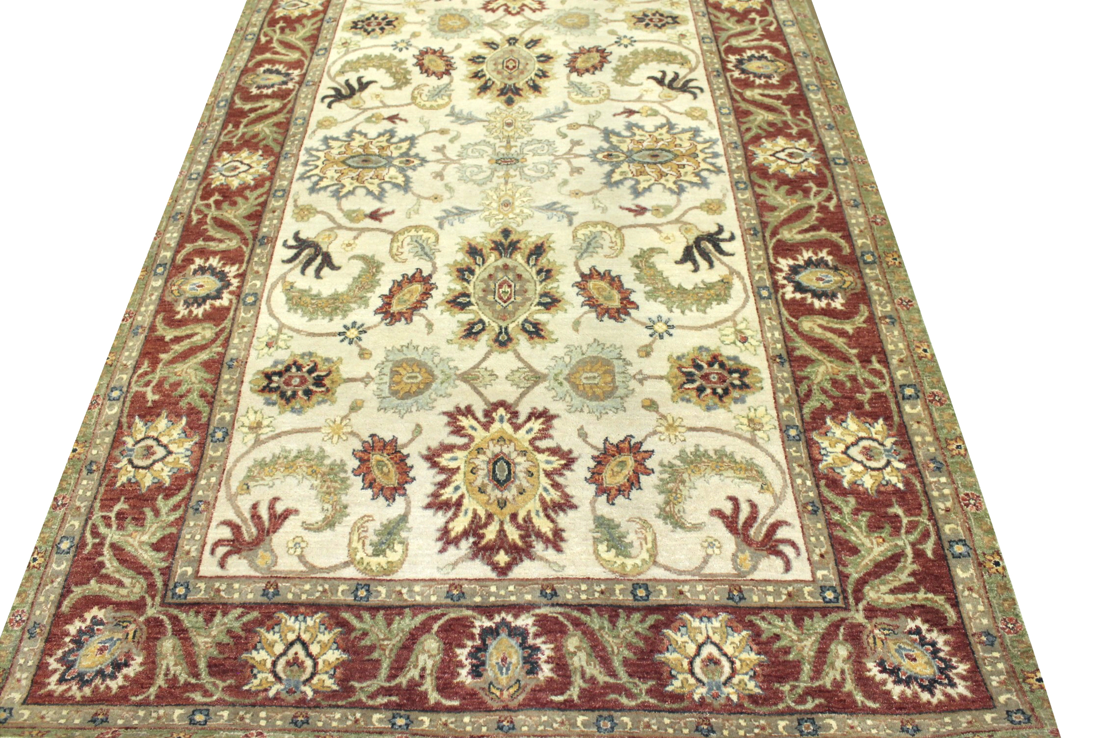 5x7/8 Traditional Hand Knotted Wool Area Rug - MR022878