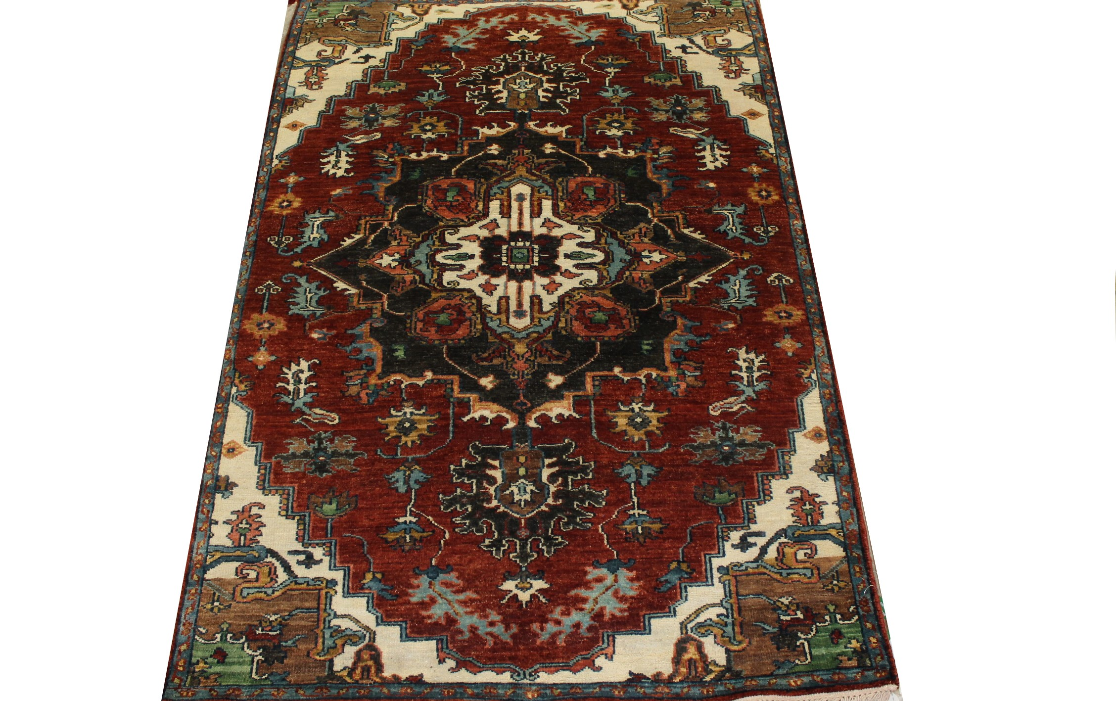 4x6  Hand Knotted Wool Area Rug - MR022893