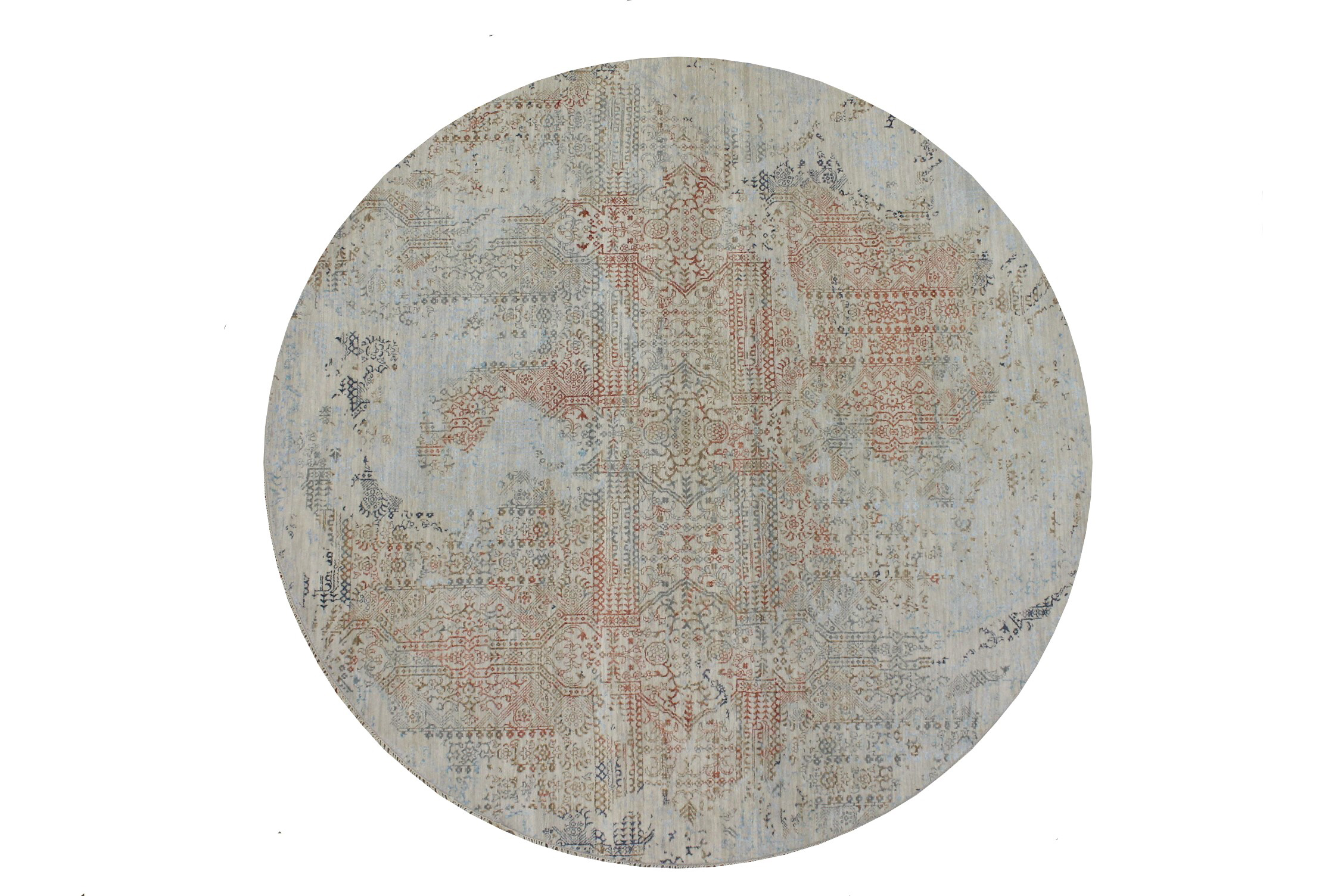 8 ft. Round & Square  Hand Knotted Wool Area Rug - MR022936