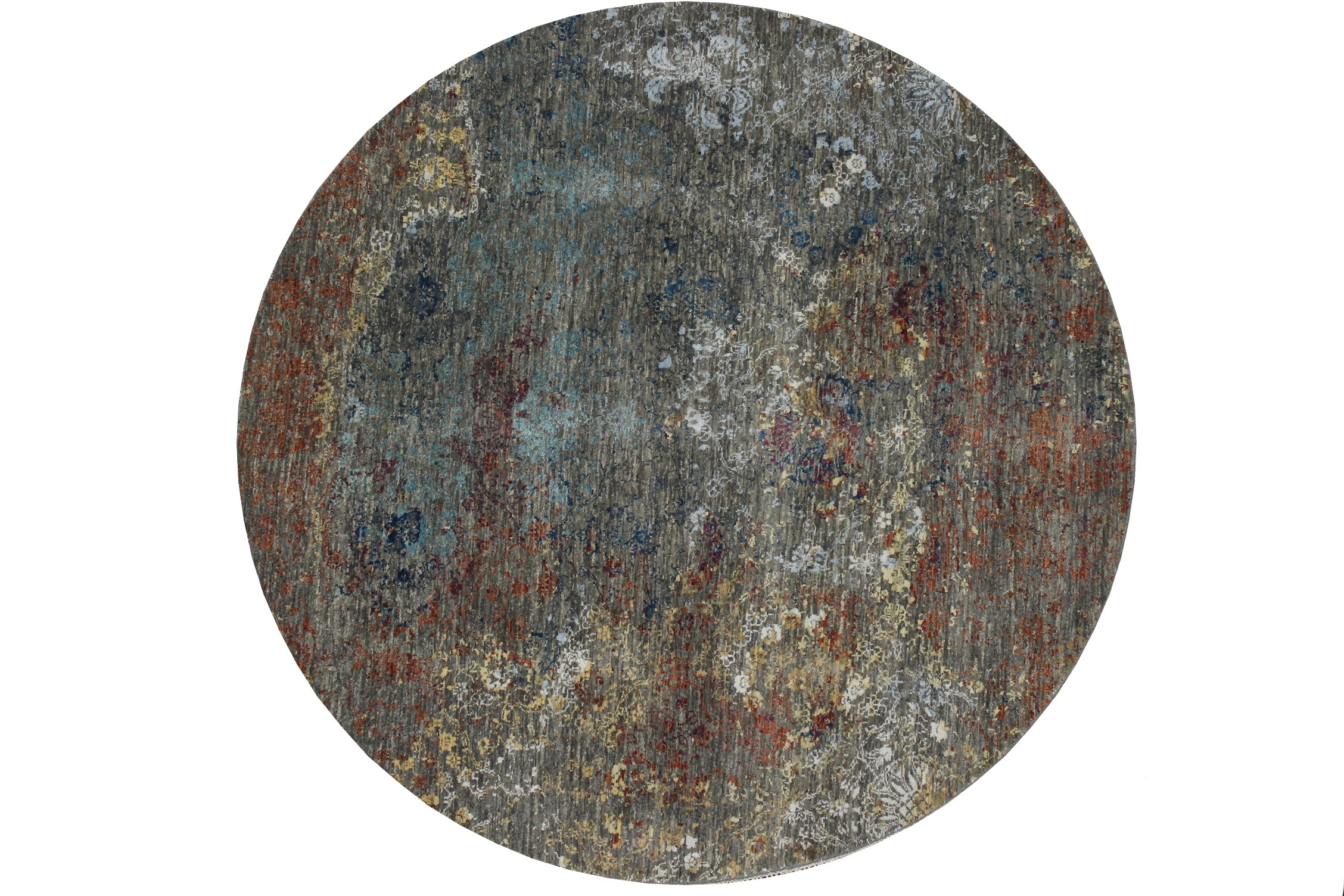 6 ft. - 7 ft. Round & Square  Hand Knotted Wool Area Rug - MR022946