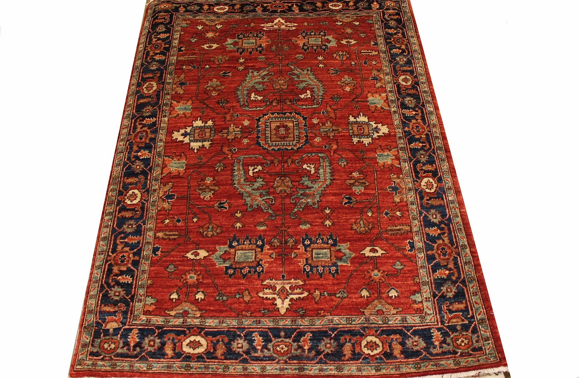4x6 Traditional Hand Knotted Wool Area Rug - MR023028