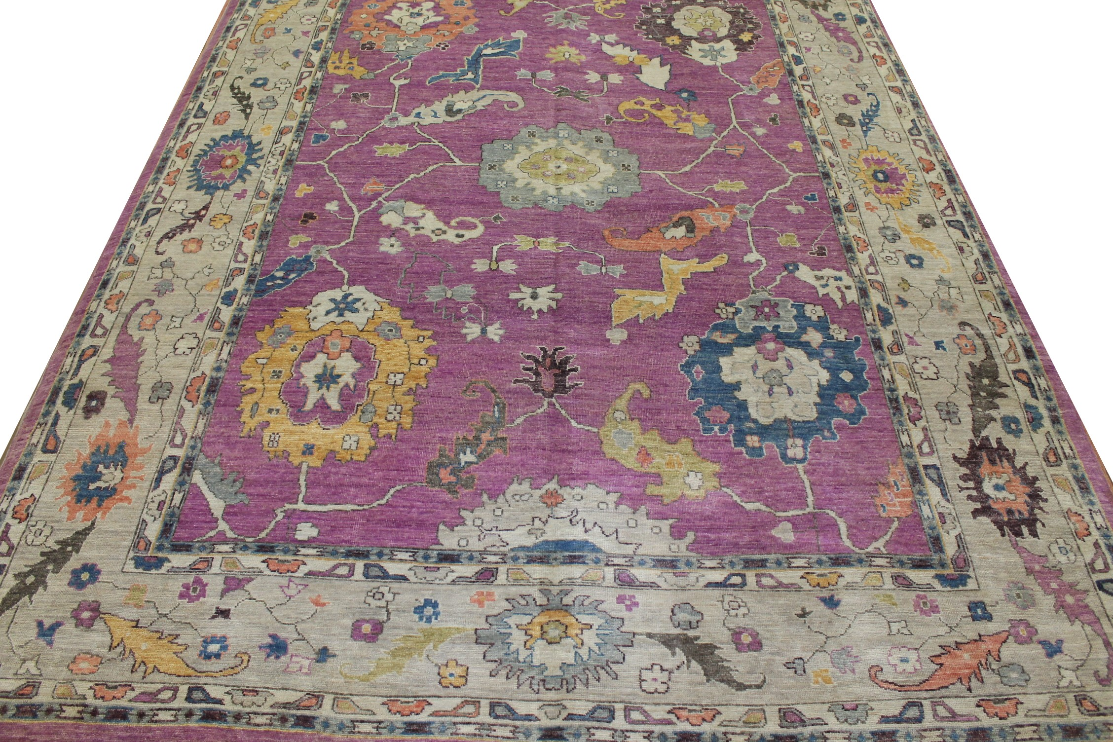 Select Size Oushak Hand Knotted Wool Area Rug - MR023048
