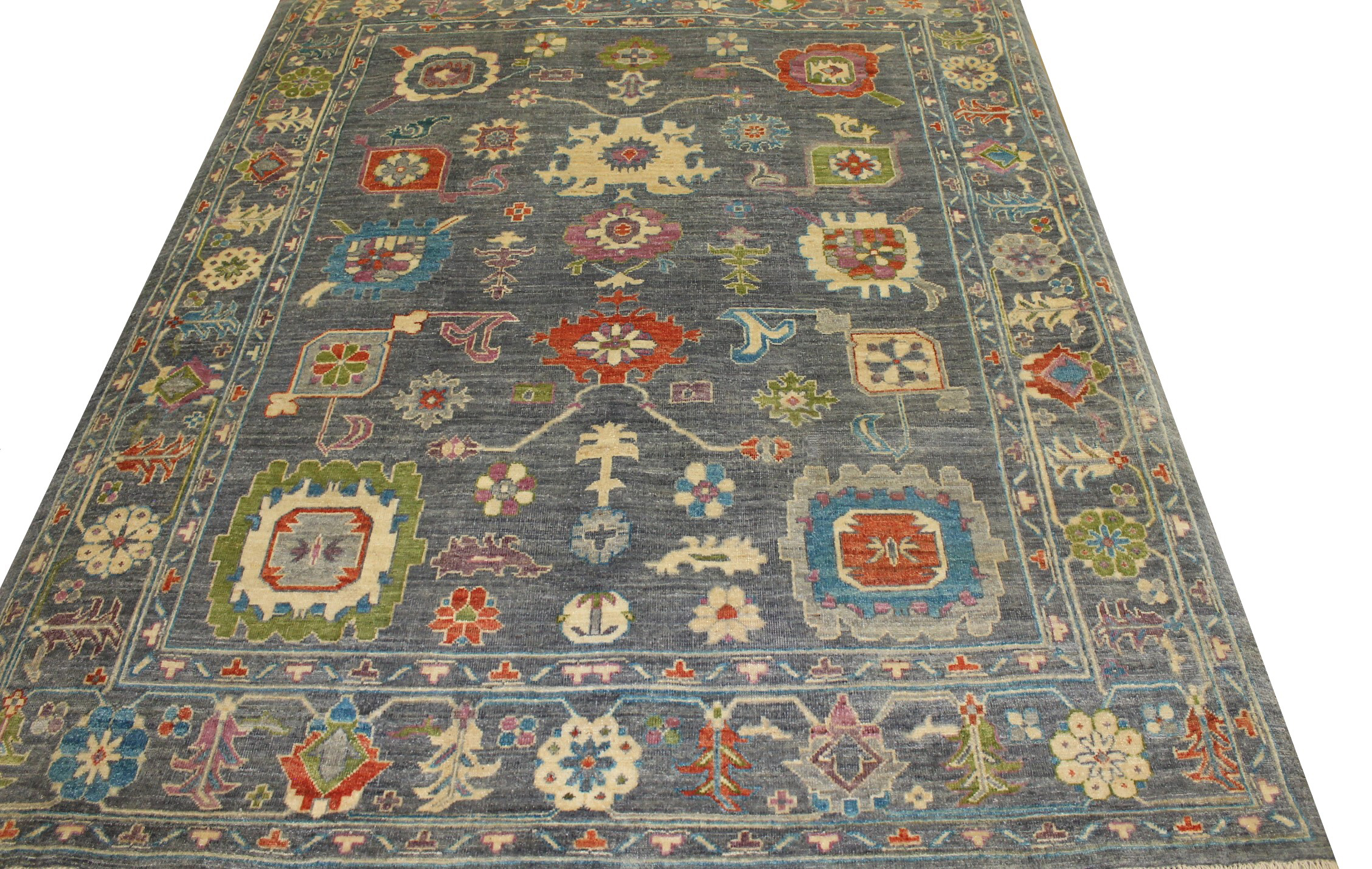 8x10 Oushak Hand Knotted Wool Area Rug - MR023058
