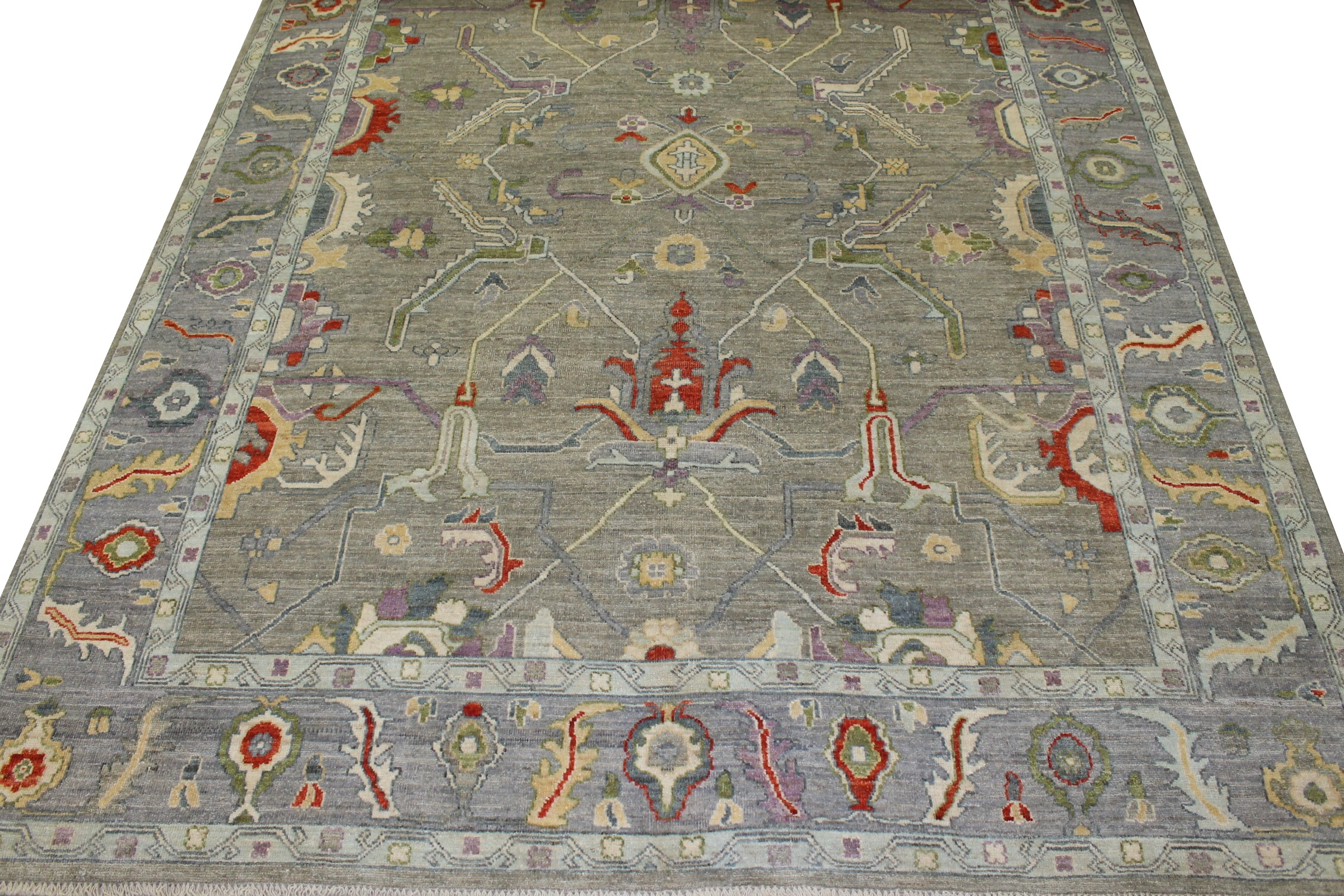 9x12 Oushak Hand Knotted Wool Area Rug - MR023077