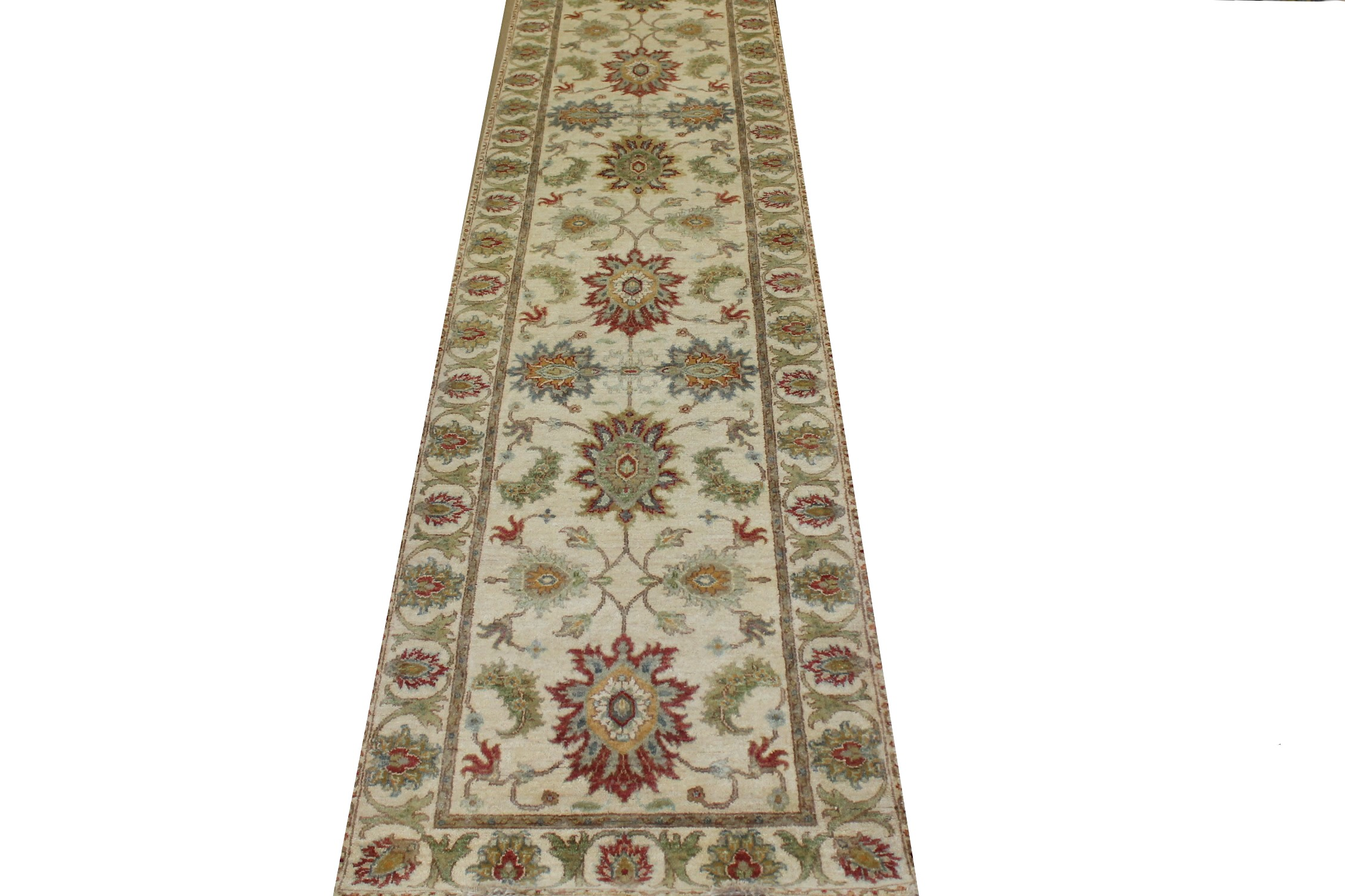 13 ft. & Longer Runner Traditional Hand Knotted Wool Area Rug - MR023110