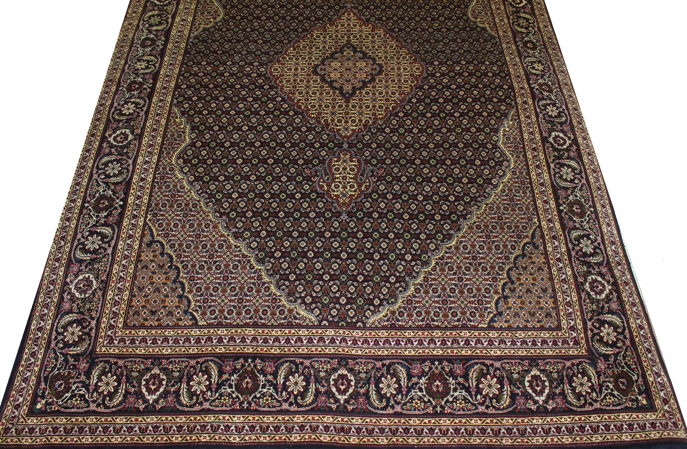 8x10 Heriz/Serapi Hand Knotted Wool & Silk Area Rug - MR023151