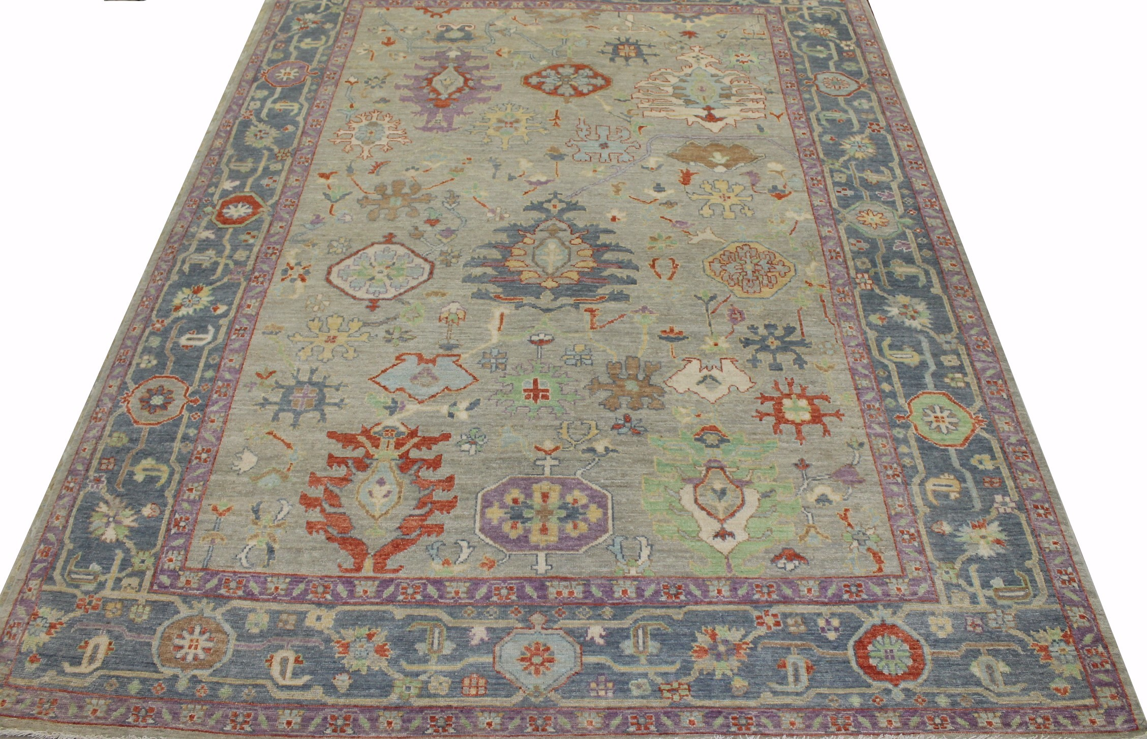 9x12 Oushak Hand Knotted Wool Area Rug - MR023357