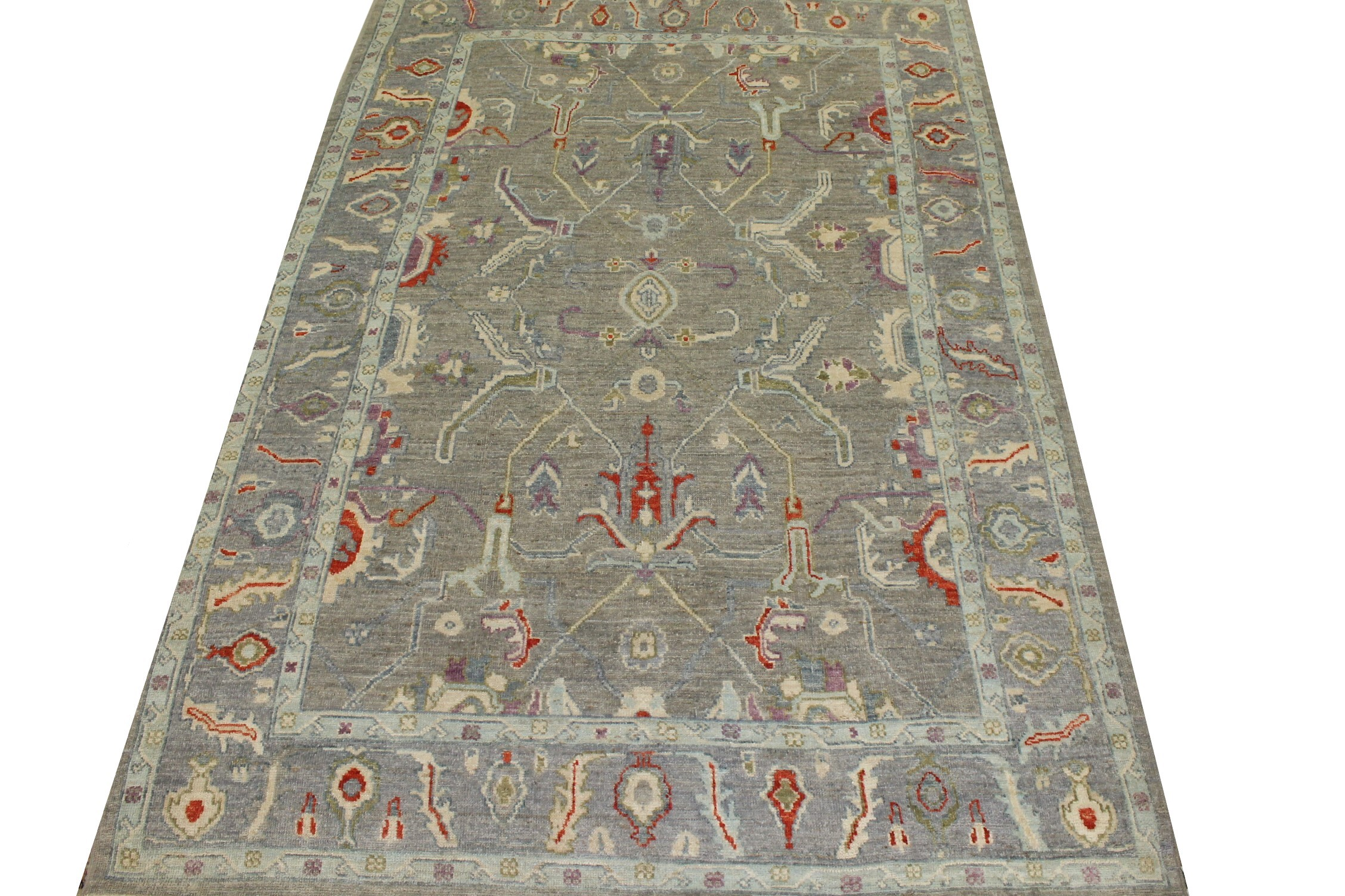 6x9 Oushak Hand Knotted Wool Area Rug - MR023373