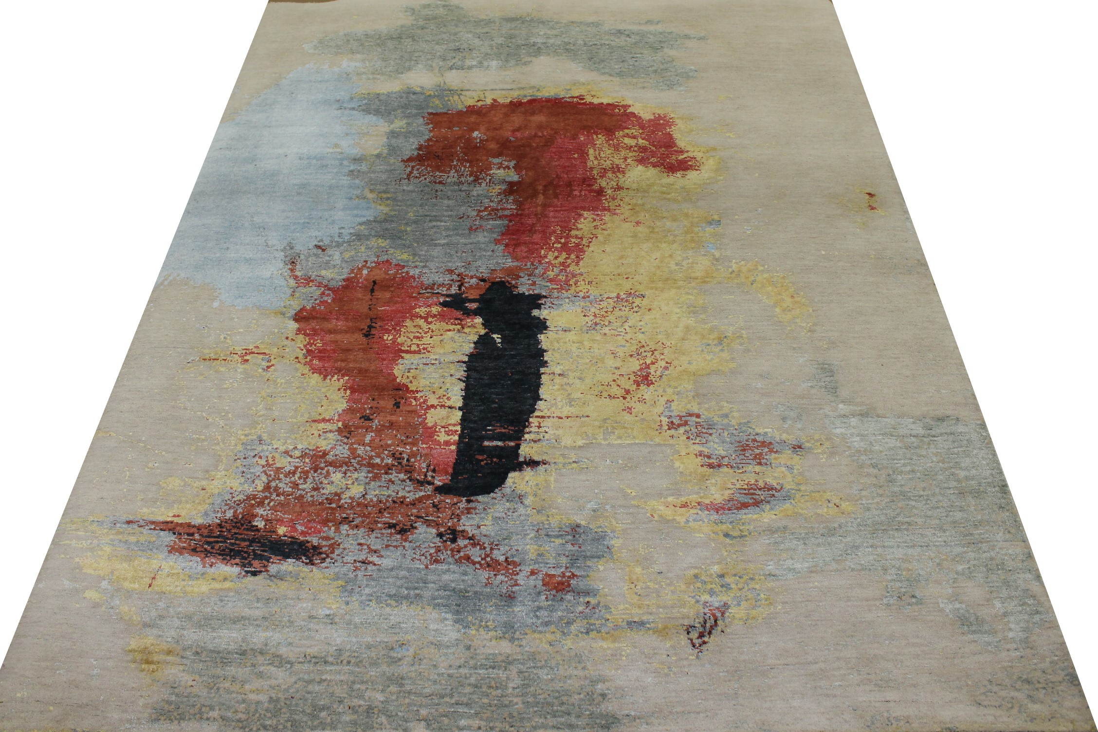 8x10 Modern Hand Knotted Wool & Viscose Area Rug - MR023392