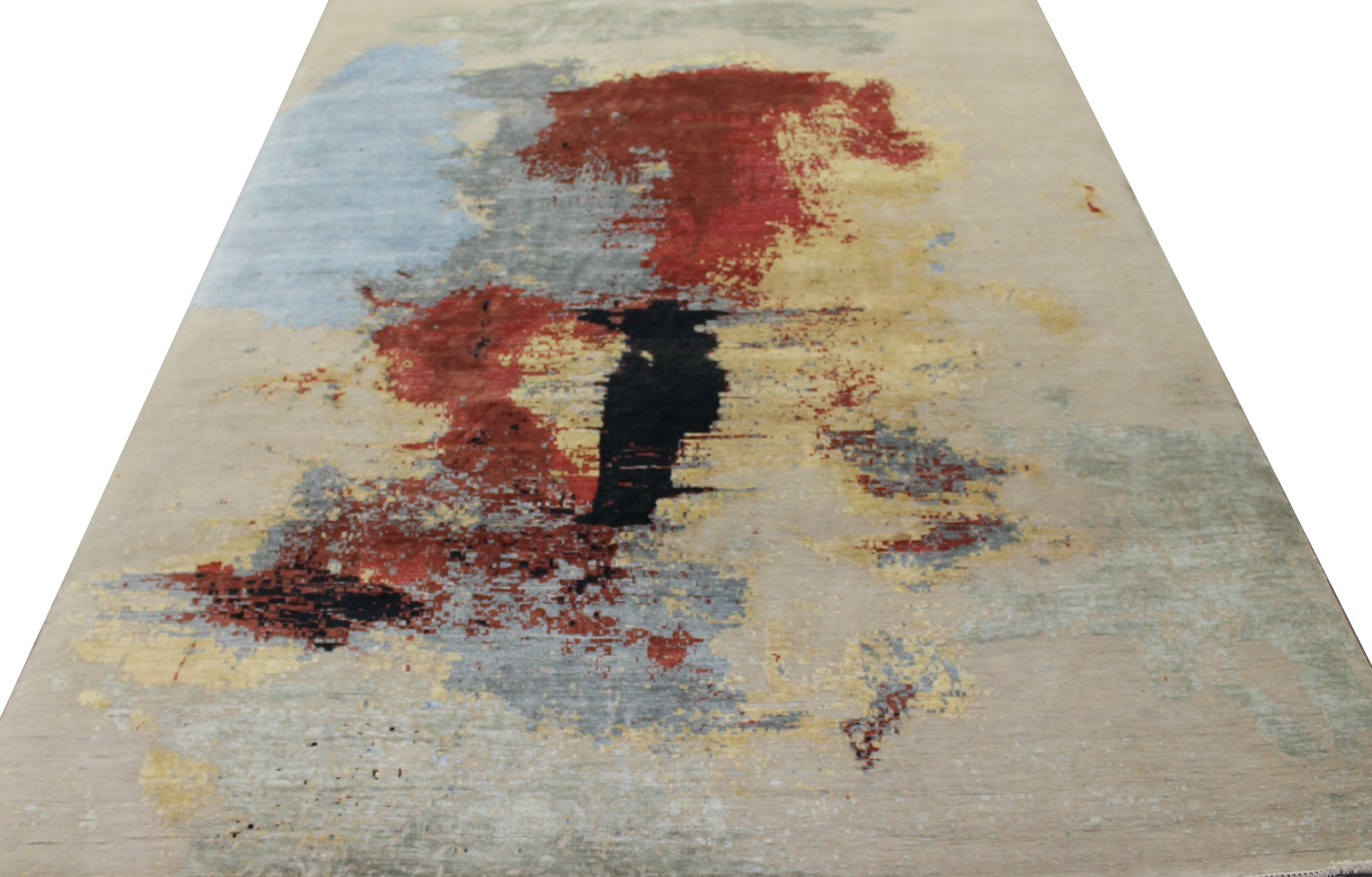 10x14 Modern Hand Knotted Wool & Viscose Area Rug - MR023396