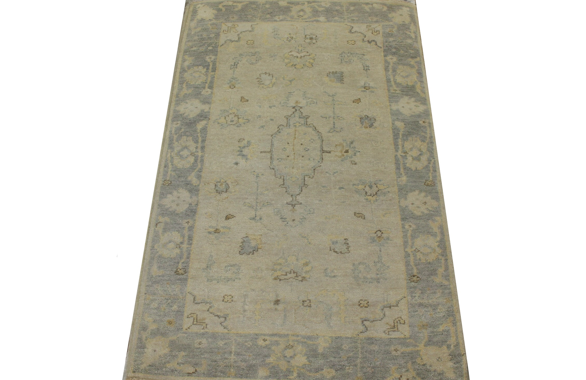 3x5 Oushak Hand Knotted Wool Area Rug - MR023417