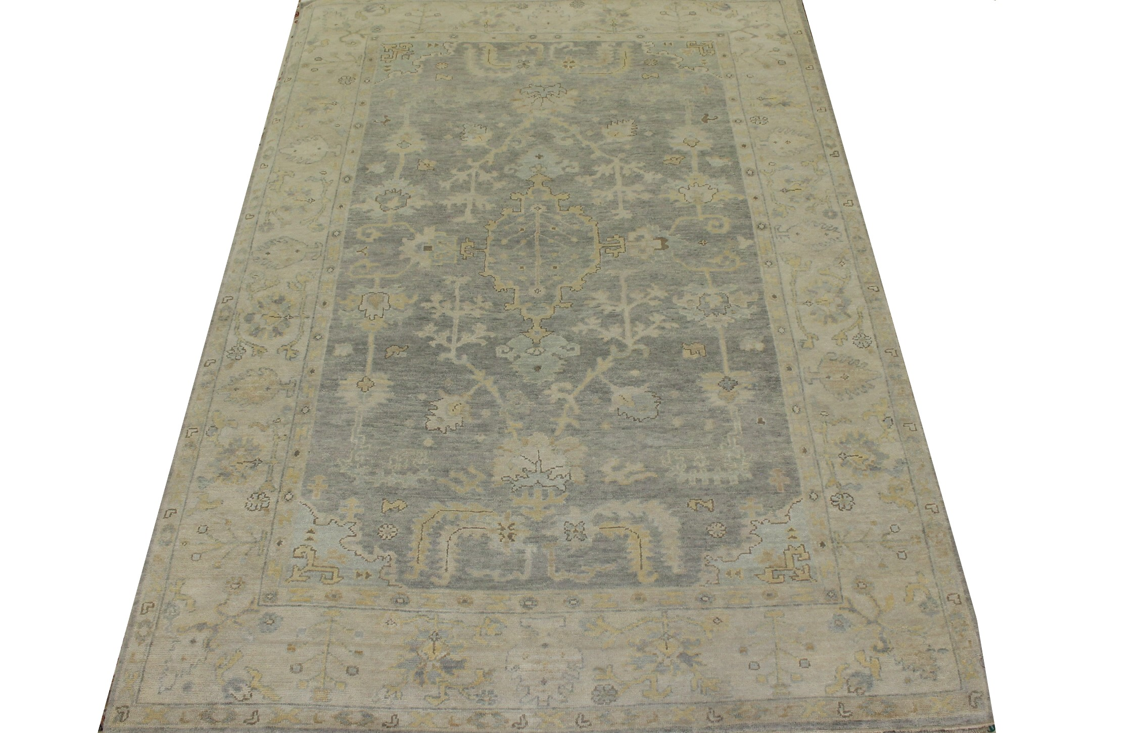 6x9 Oushak Hand Knotted Wool Area Rug - MR023422