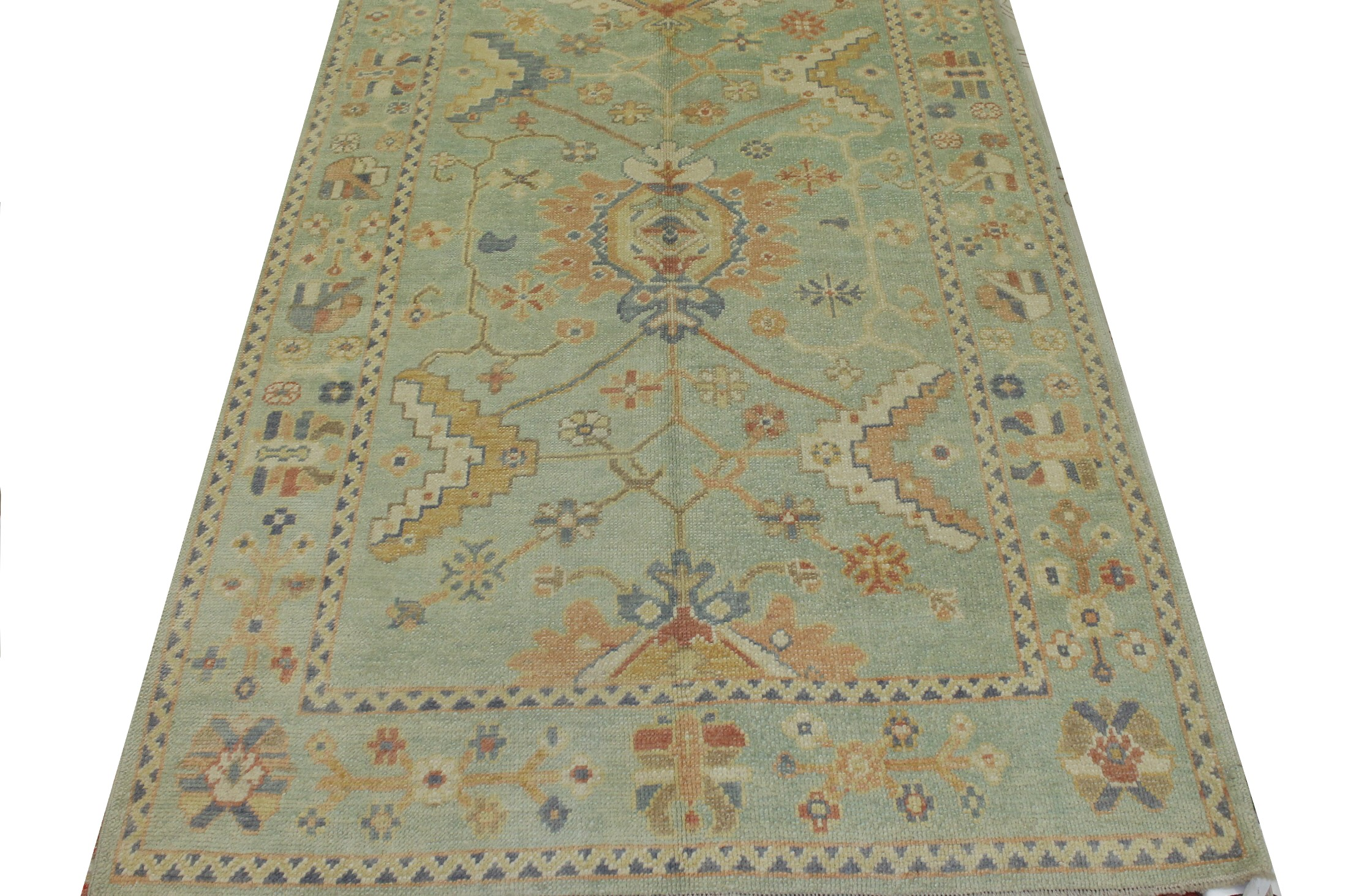 5x7/8 Oushak Hand Knotted Wool Area Rug - MR023448