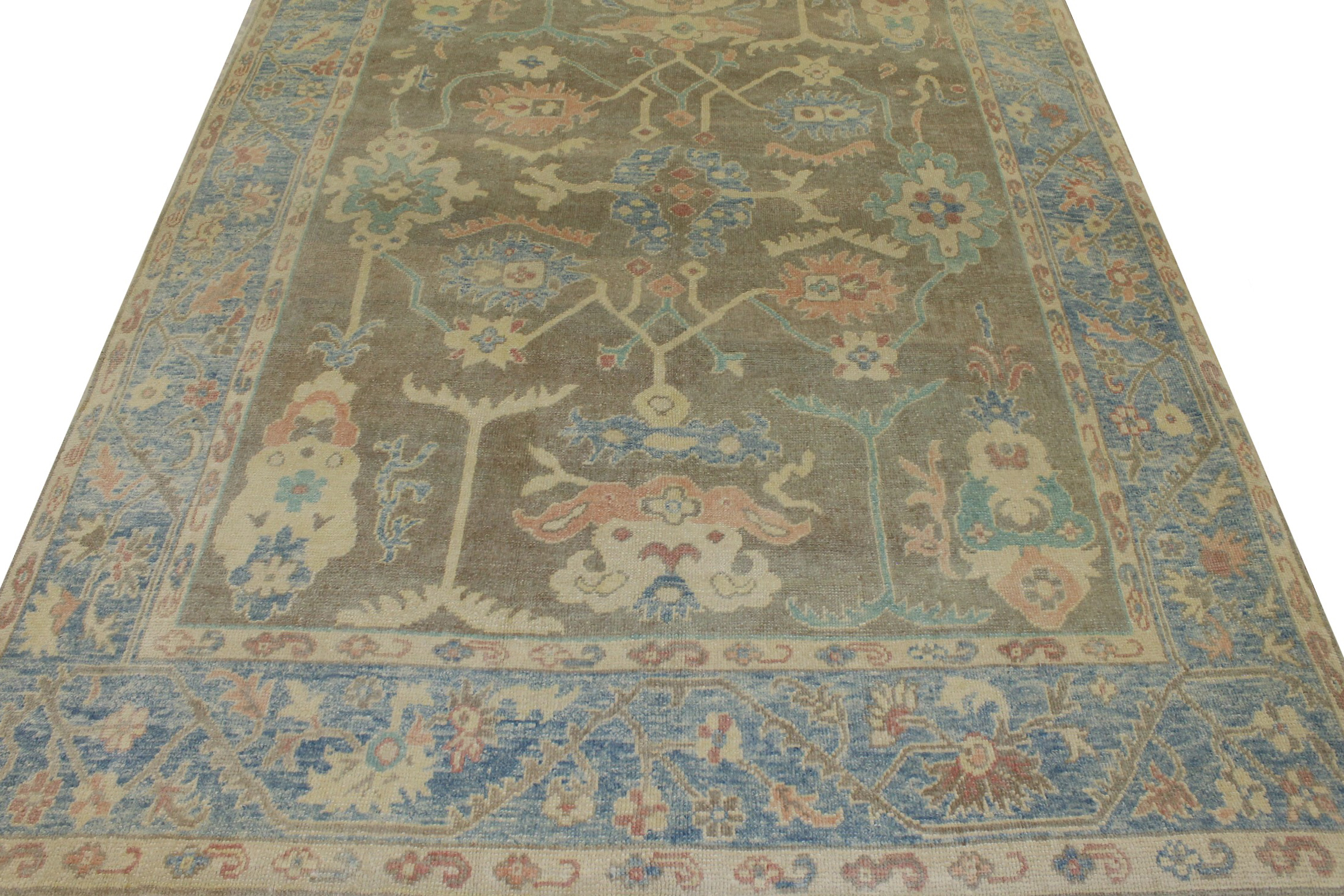 9x12 Oushak Hand Knotted Wool Area Rug - MR023449