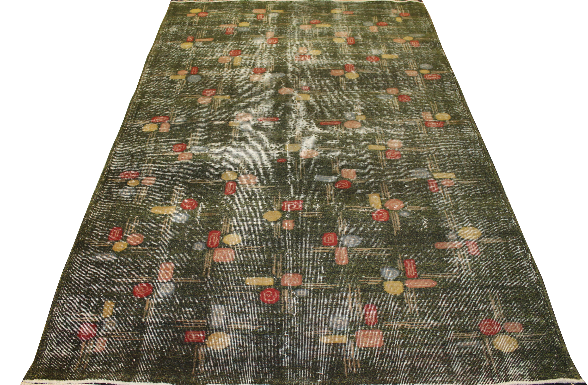 5x7/8 Contemporary Hand Knotted Wool Area Rug - MR023453