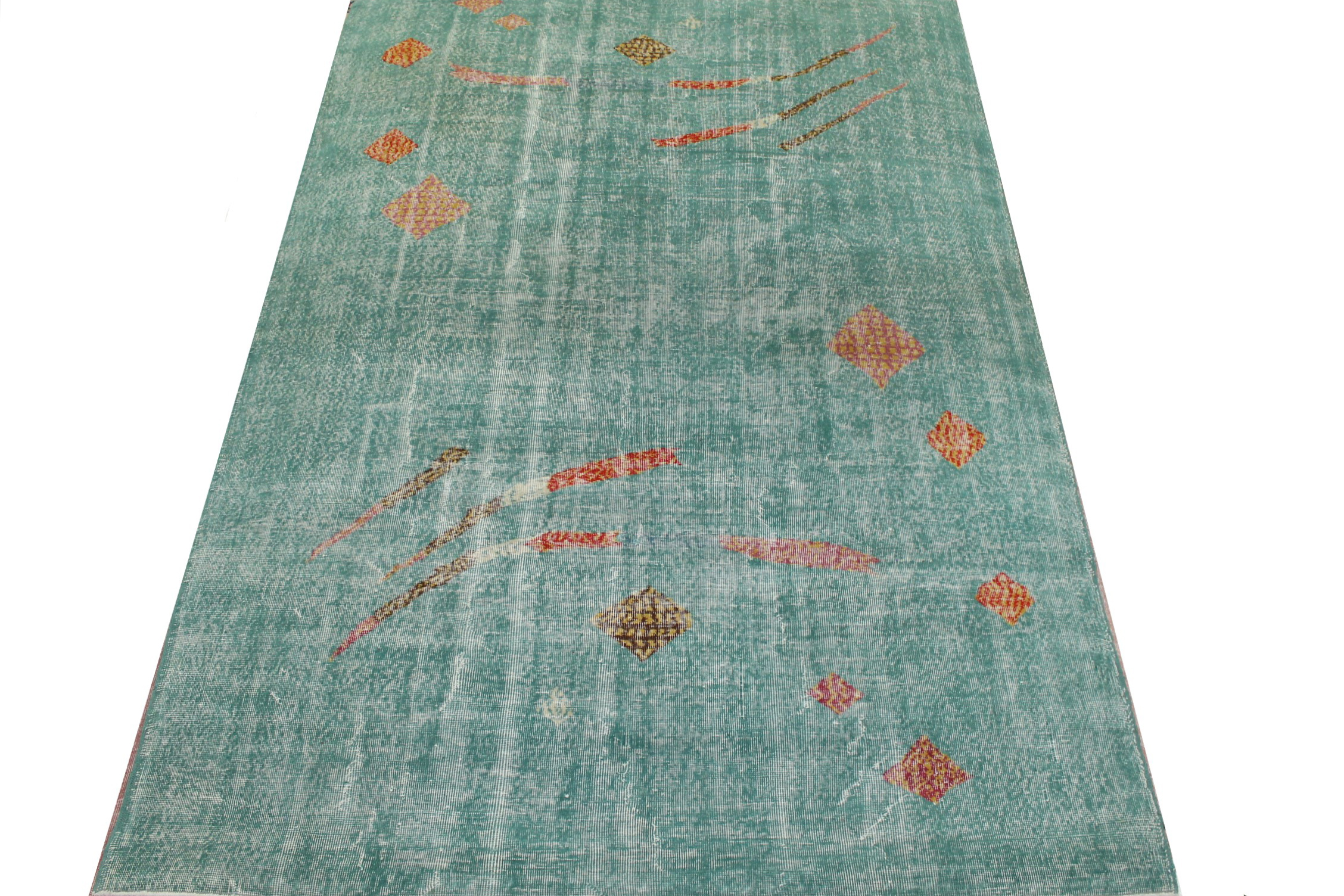 8x10 Contemporary Hand Knotted Wool Area Rug - MR023454
