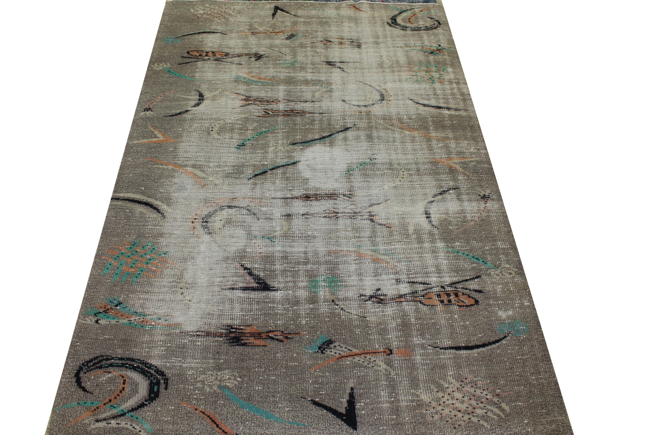 5x7/8 Contemporary Hand Knotted Wool Area Rug - MR023456