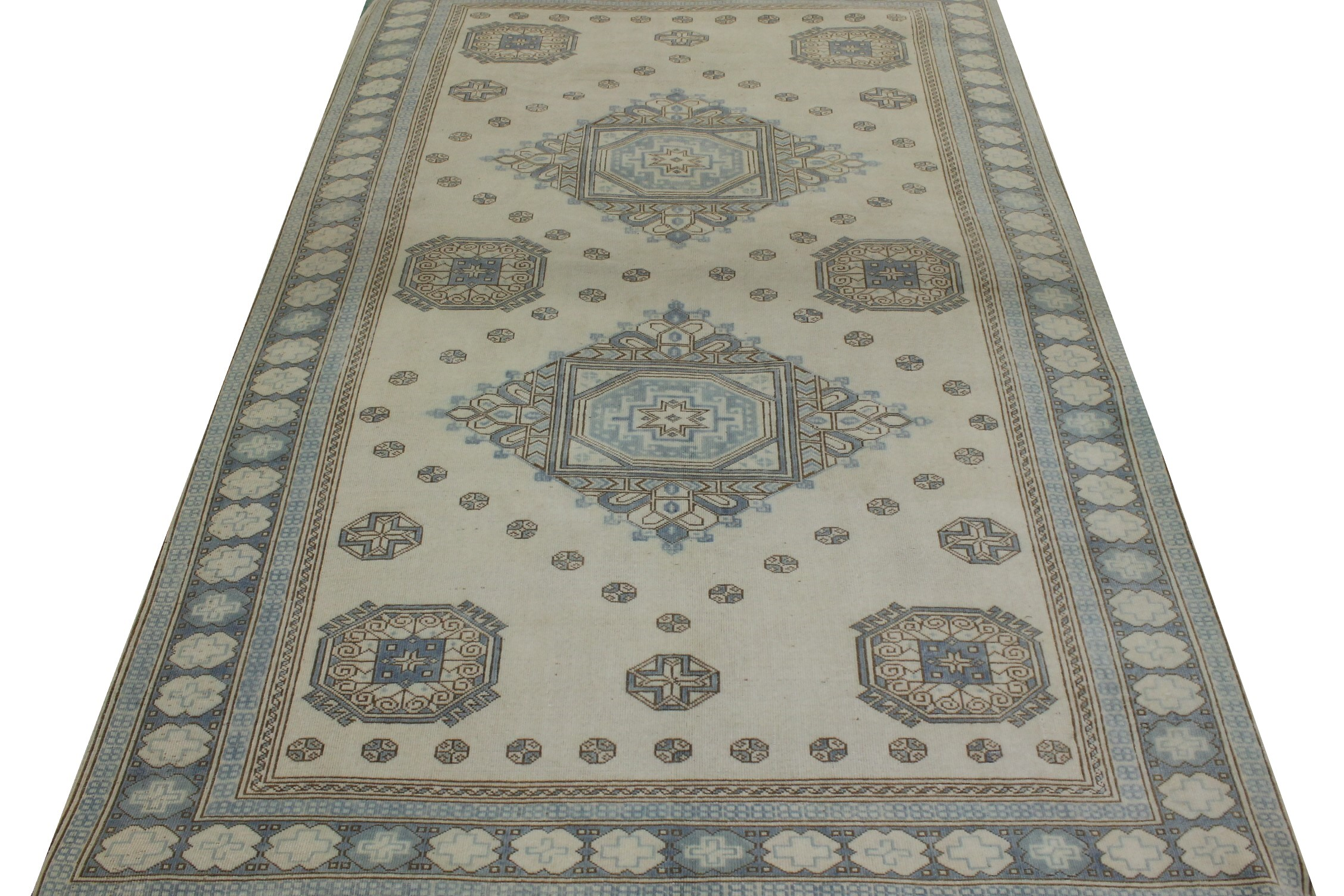 6x9 Oushak Hand Knotted Wool Area Rug - MR023469