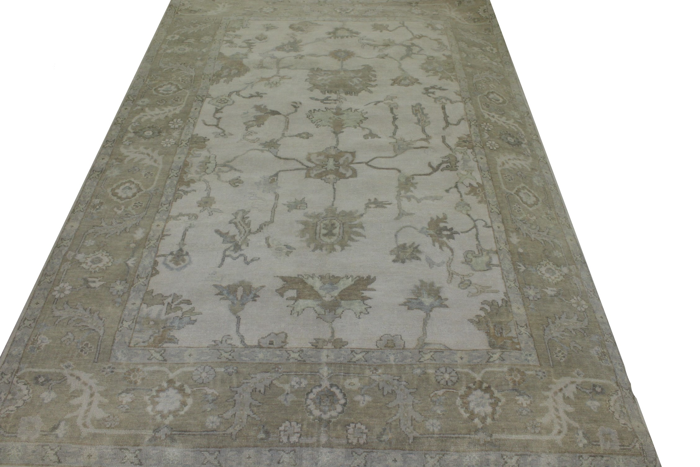 6x9 Oushak Hand Knotted Wool Area Rug - MR023490