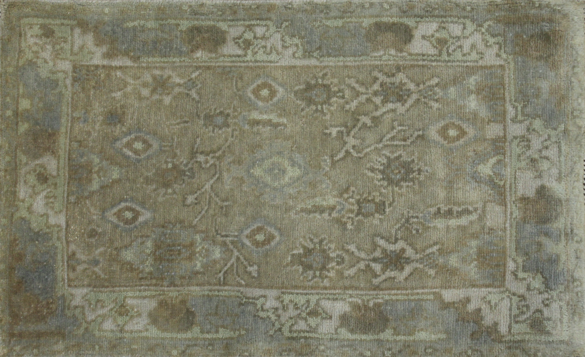 2X3 Oushak Hand Knotted Wool Area Rug - MR023496
