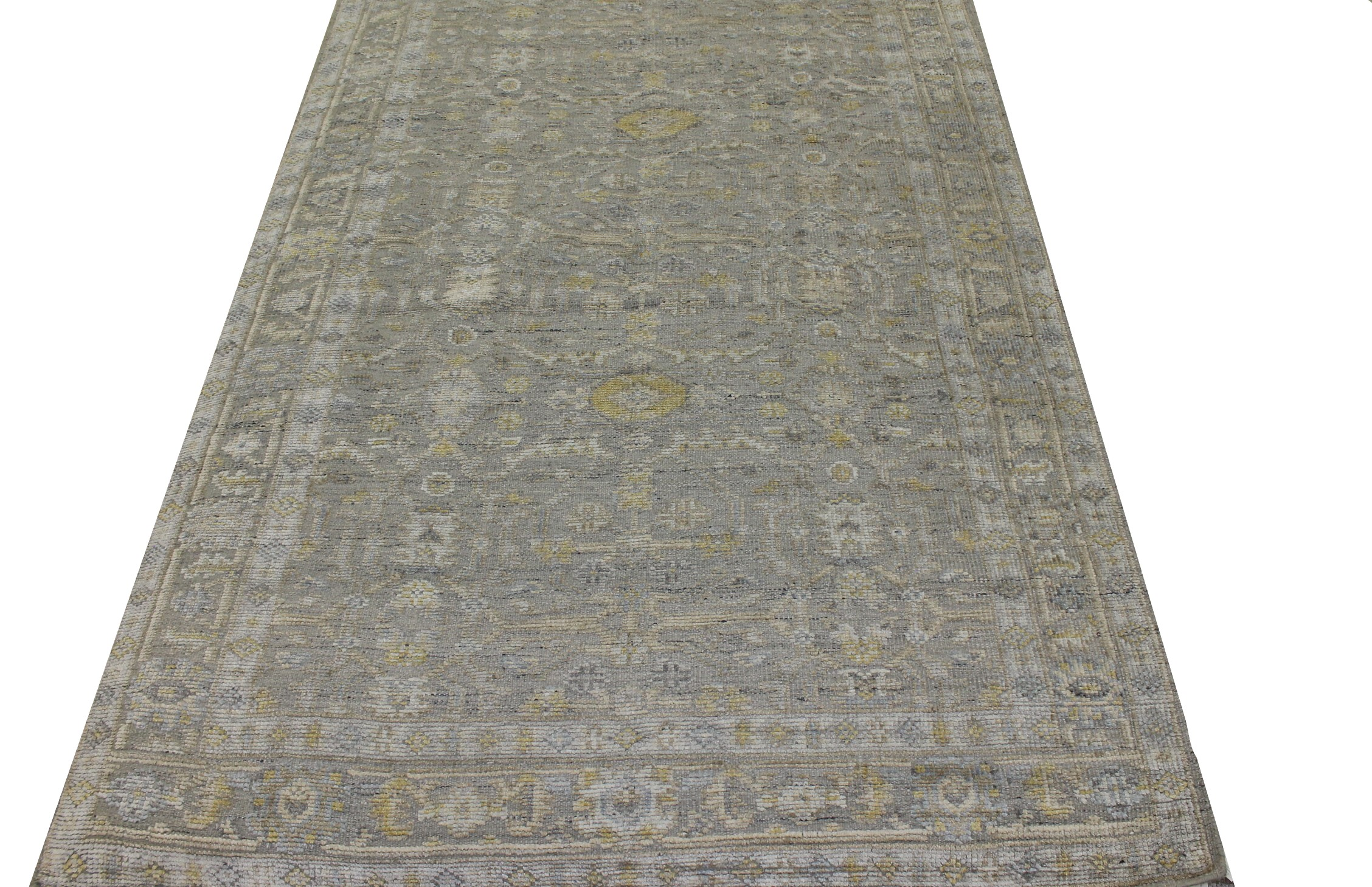 6x9 Oushak Hand Knotted Wool & Viscose Area Rug - MR023503