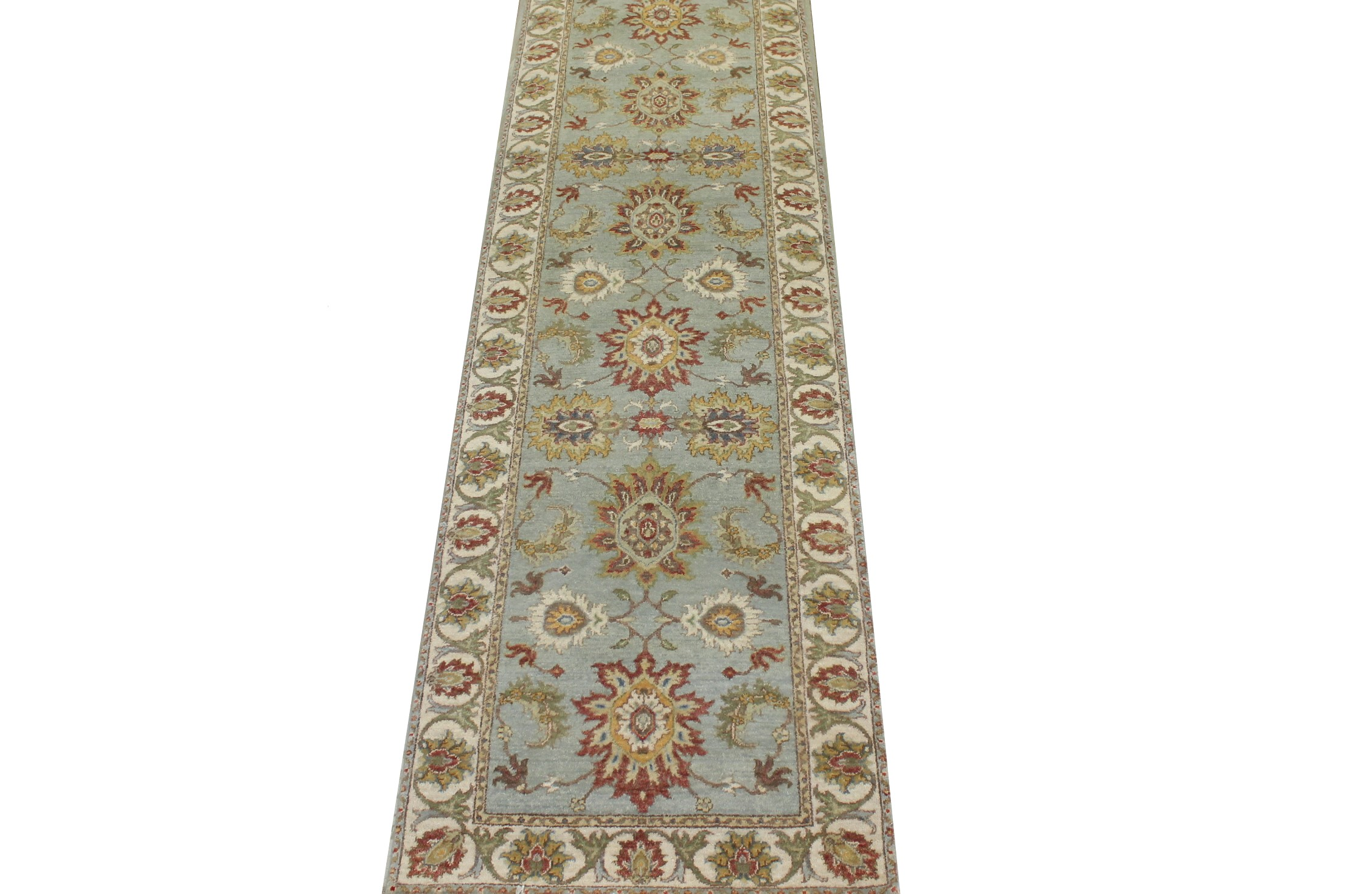 12 ft. Runner Traditional Hand Knotted Wool Area Rug - MR023542