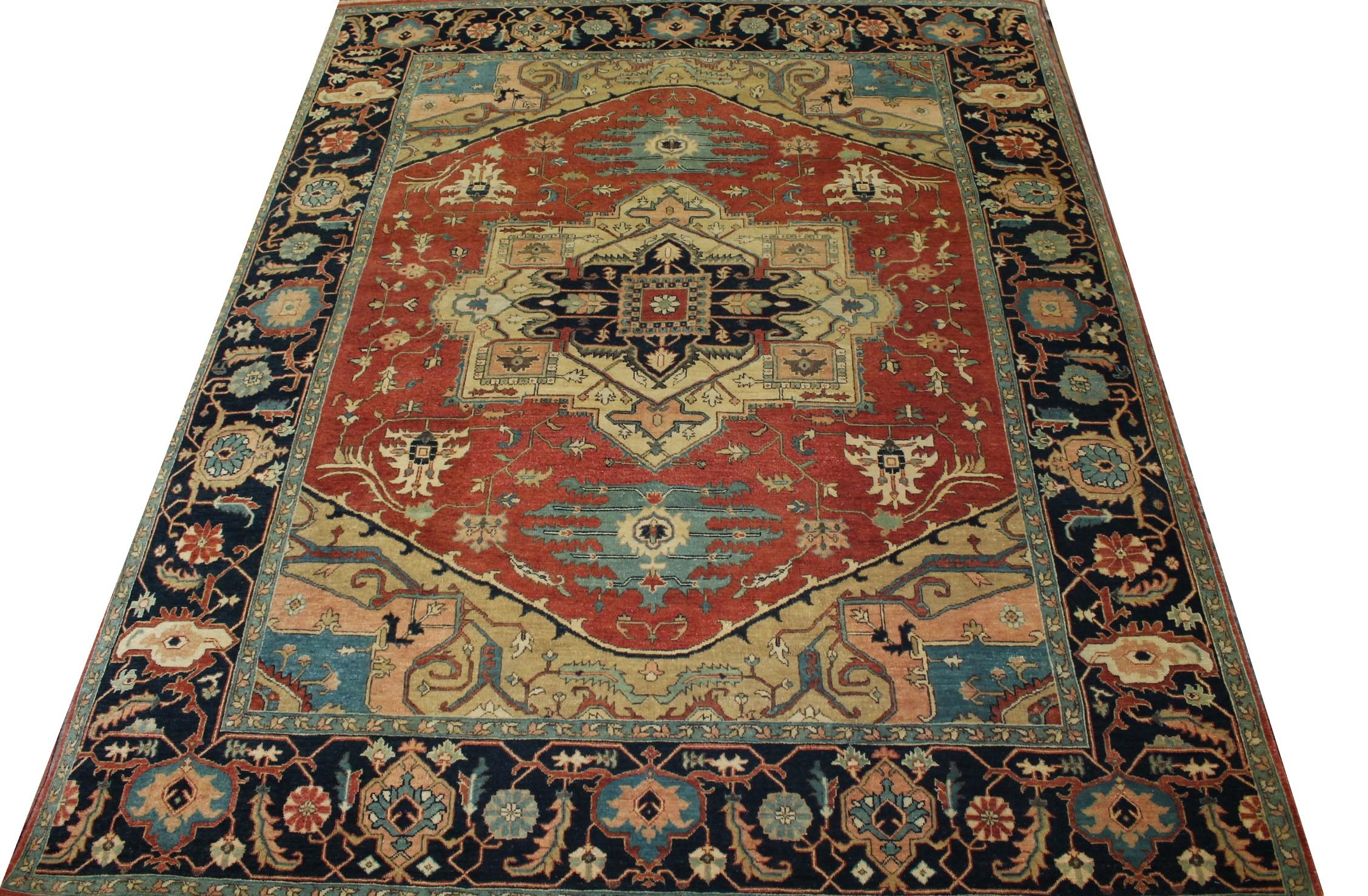 8x10 Heriz/Serapi Hand Knotted Wool Area Rug - MR023566