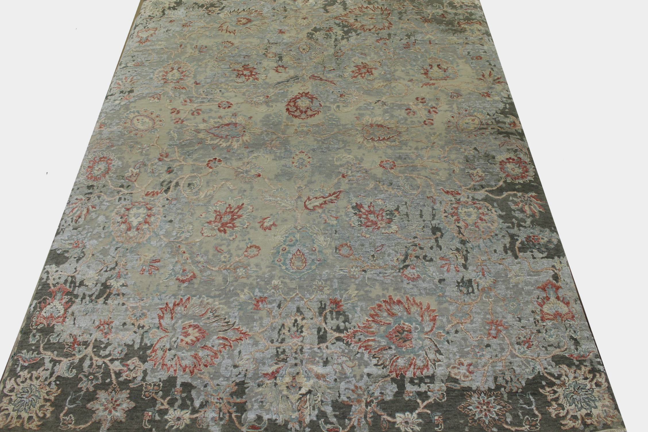 8x10 Transitional Hand Knotted Wool & Viscose Area Rug - MR023571