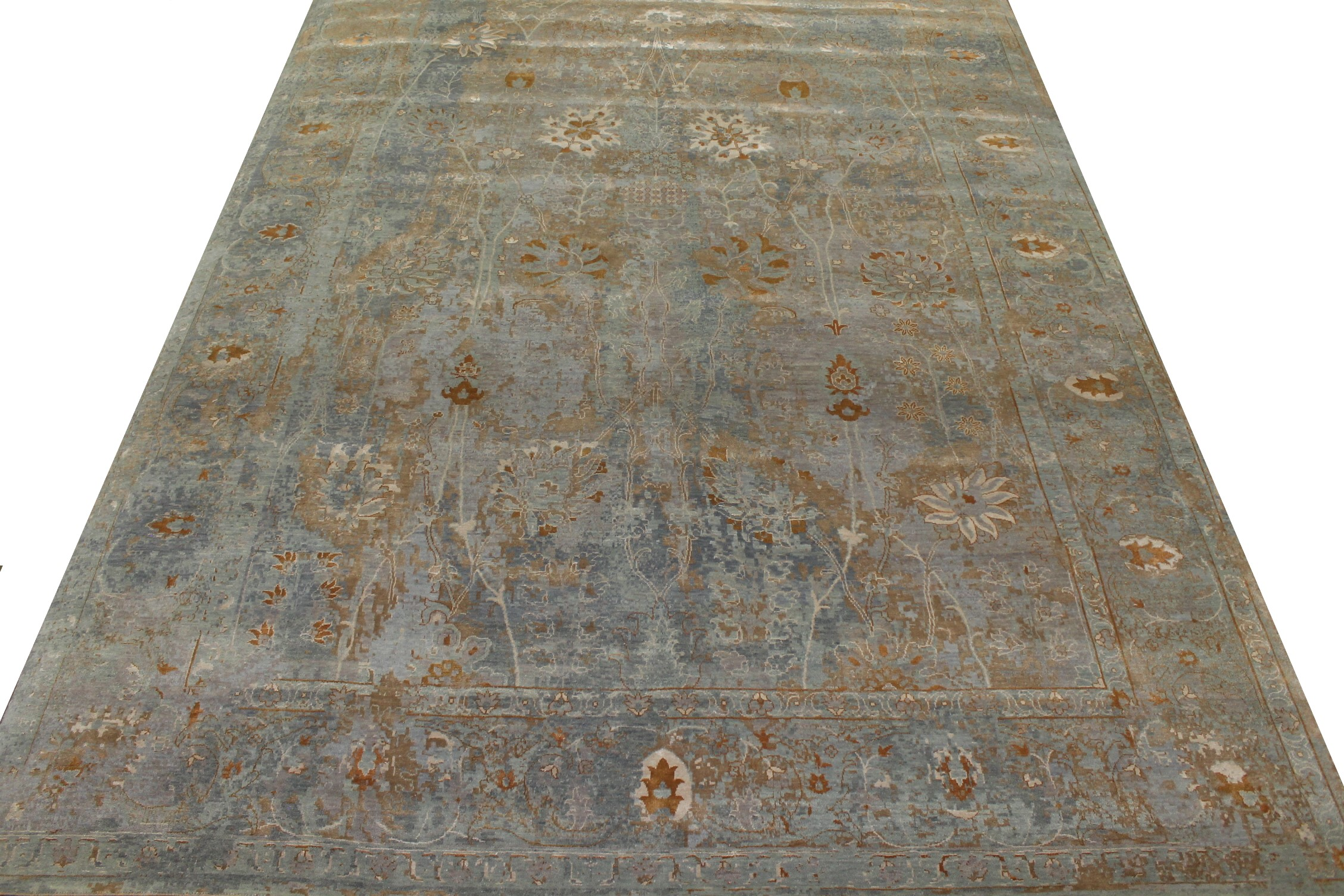 10x14 Transitional Hand Knotted Viscose Area Rug - MR023574
