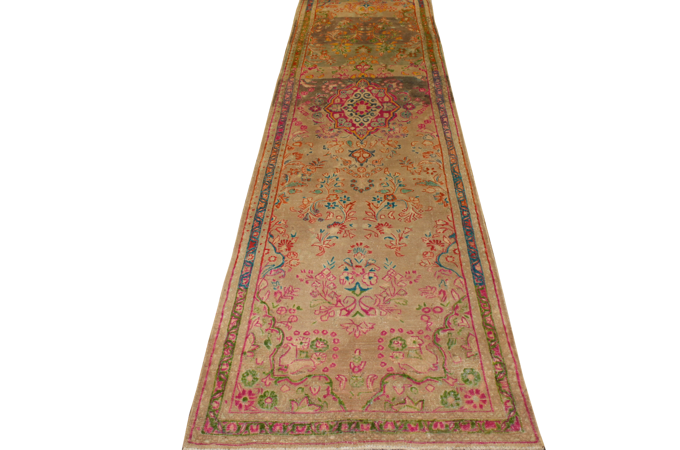 12 ft. Runner Vintage Hand Knotted Wool Area Rug - MR023637