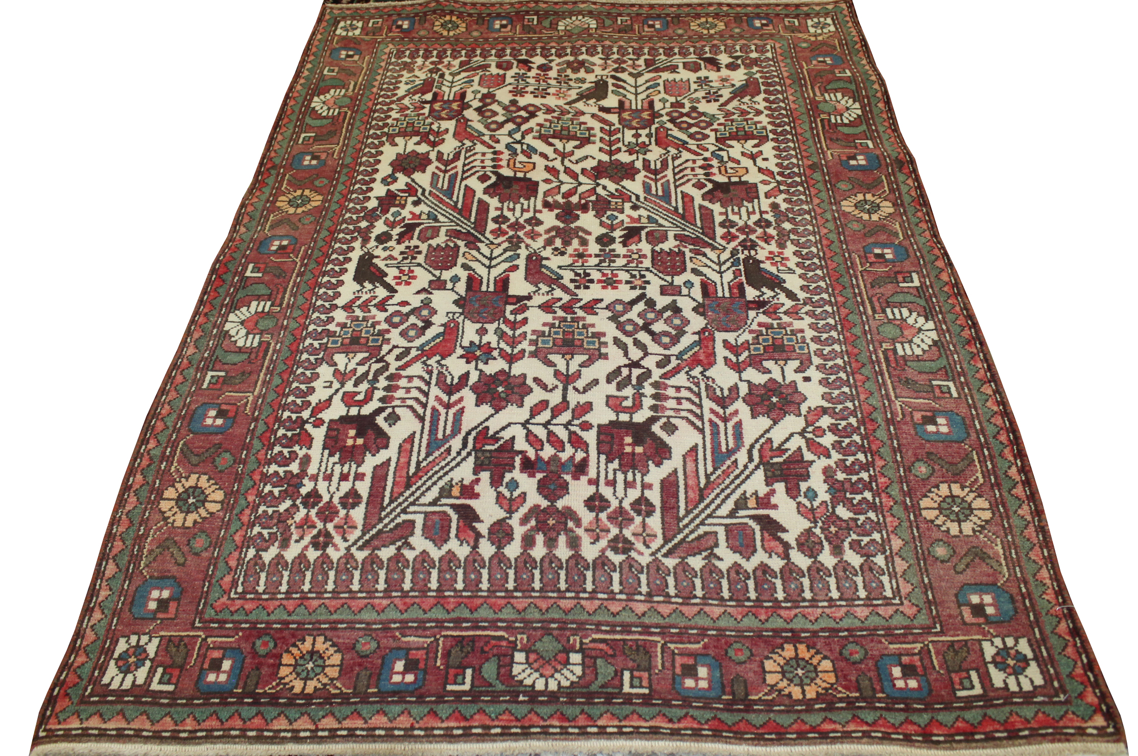 3x5 Vintage Hand Knotted Wool Area Rug - MR023639