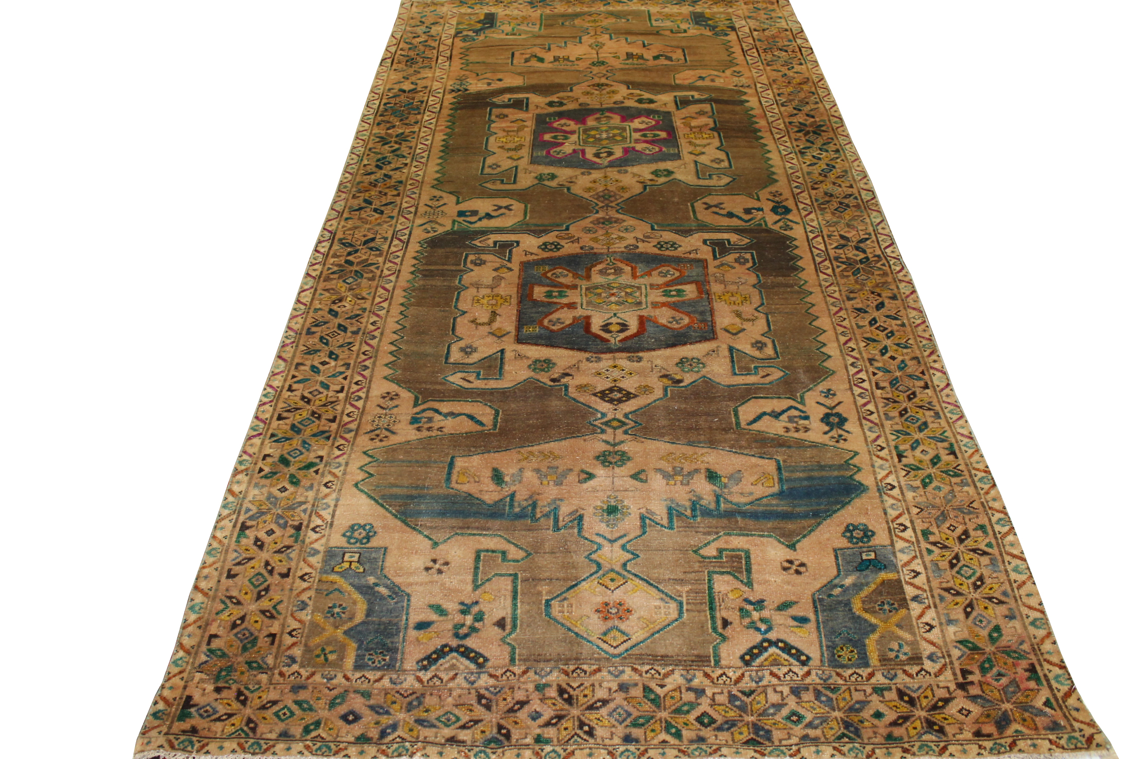 6x9 Vintage Hand Knotted Wool Area Rug - MR023646