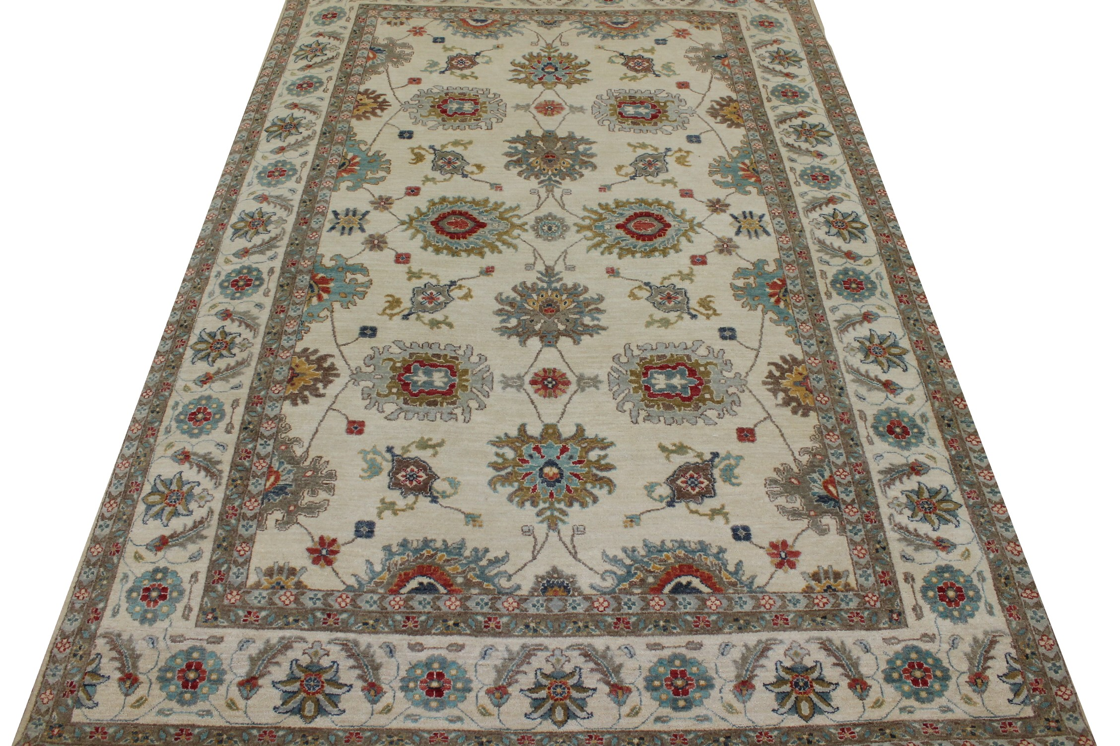 6x9 Traditional Hand Knotted Wool Area Rug - MR023664