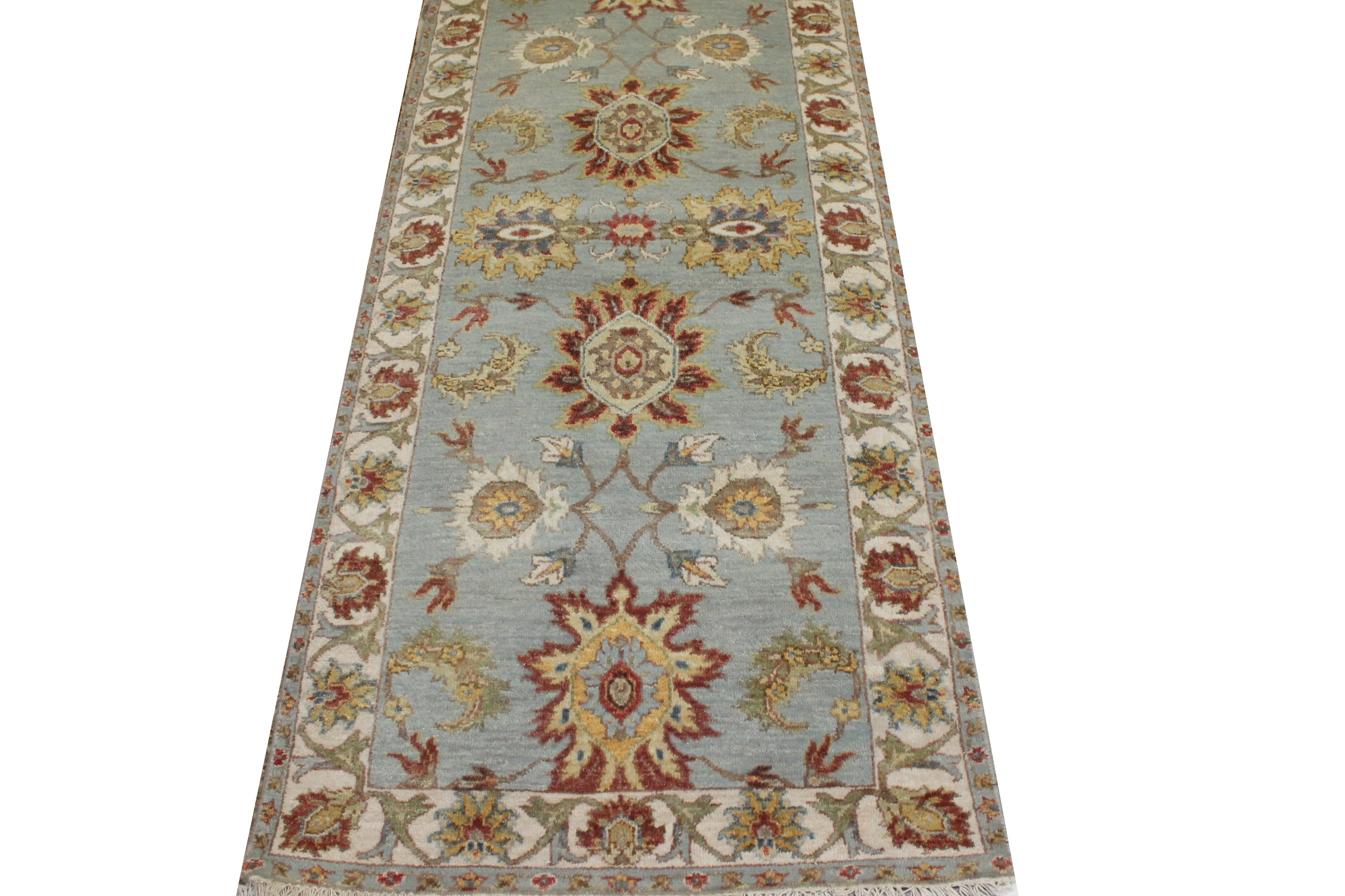 6 ft. Runner Traditional Hand Knotted Wool Area Rug - MR023678