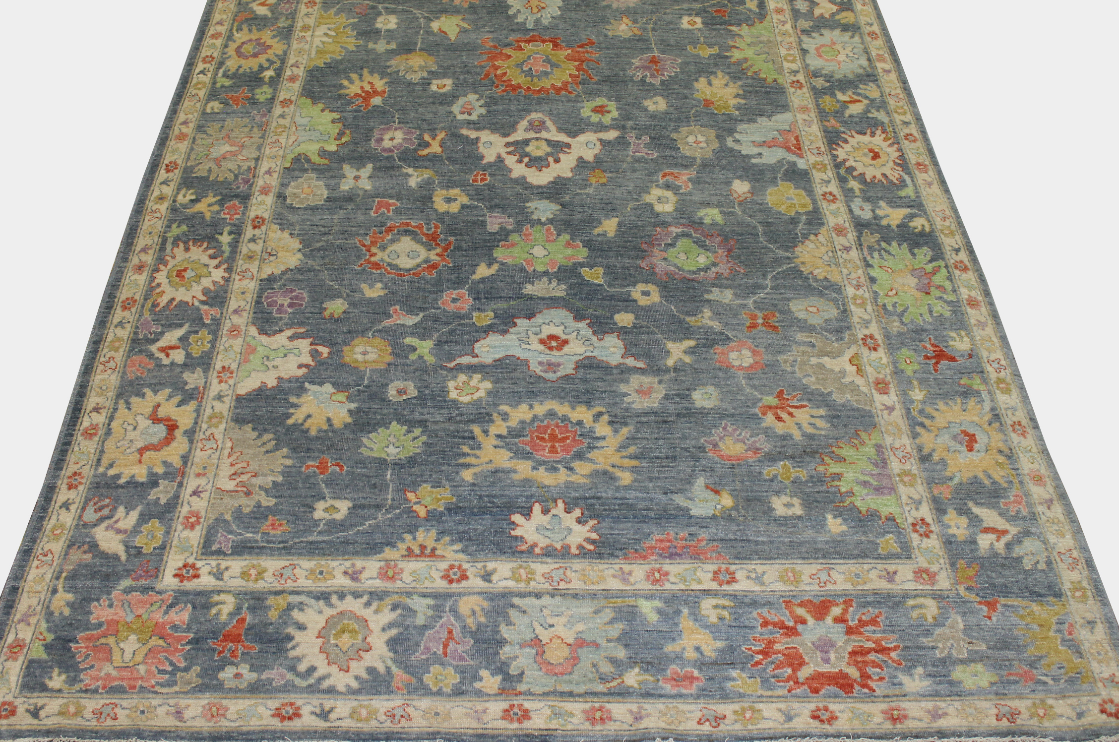 9x12 Oushak Hand Knotted Wool Area Rug - MR023702