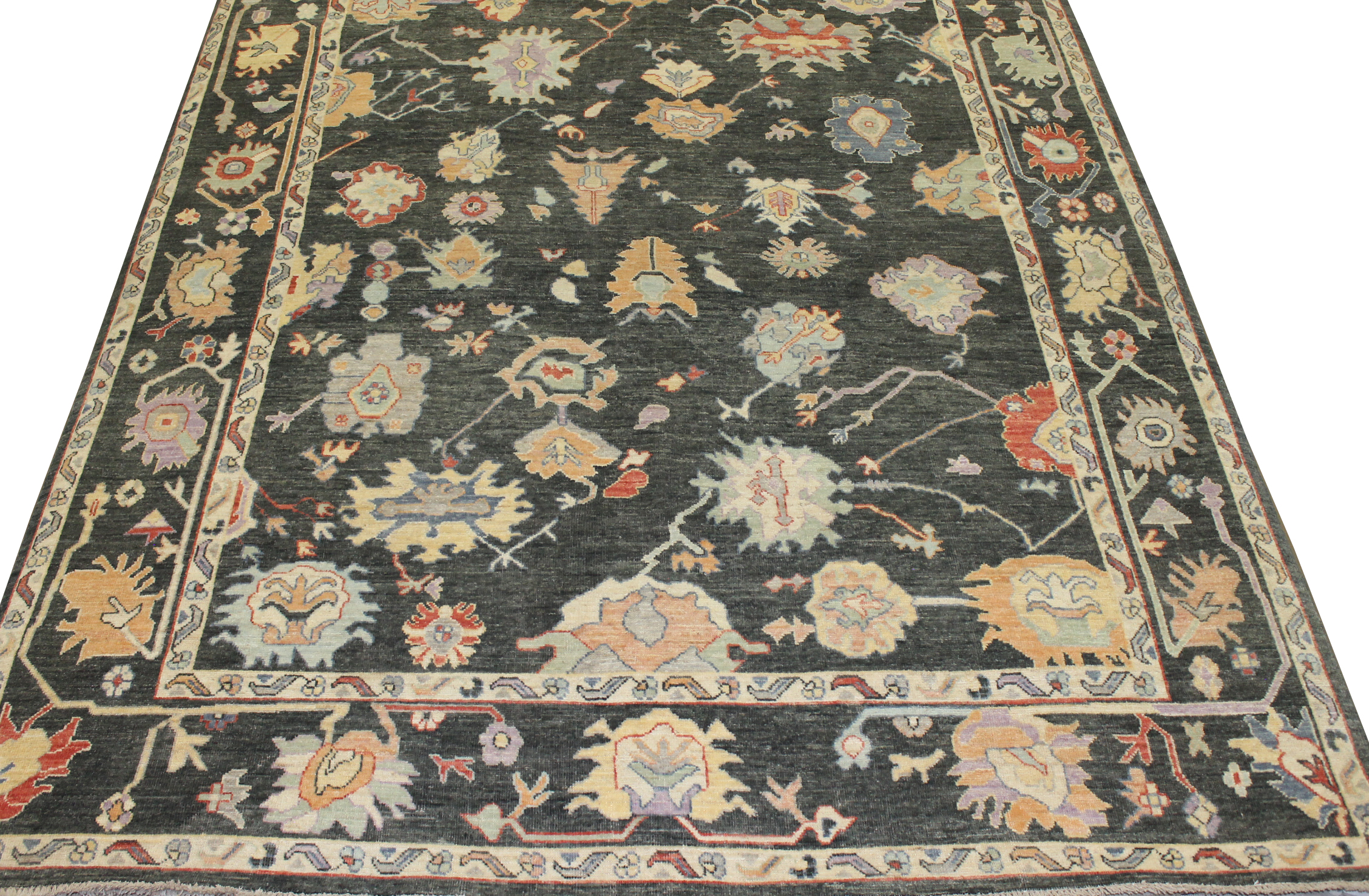 9x12 Oushak Hand Knotted Wool Area Rug - MR023705
