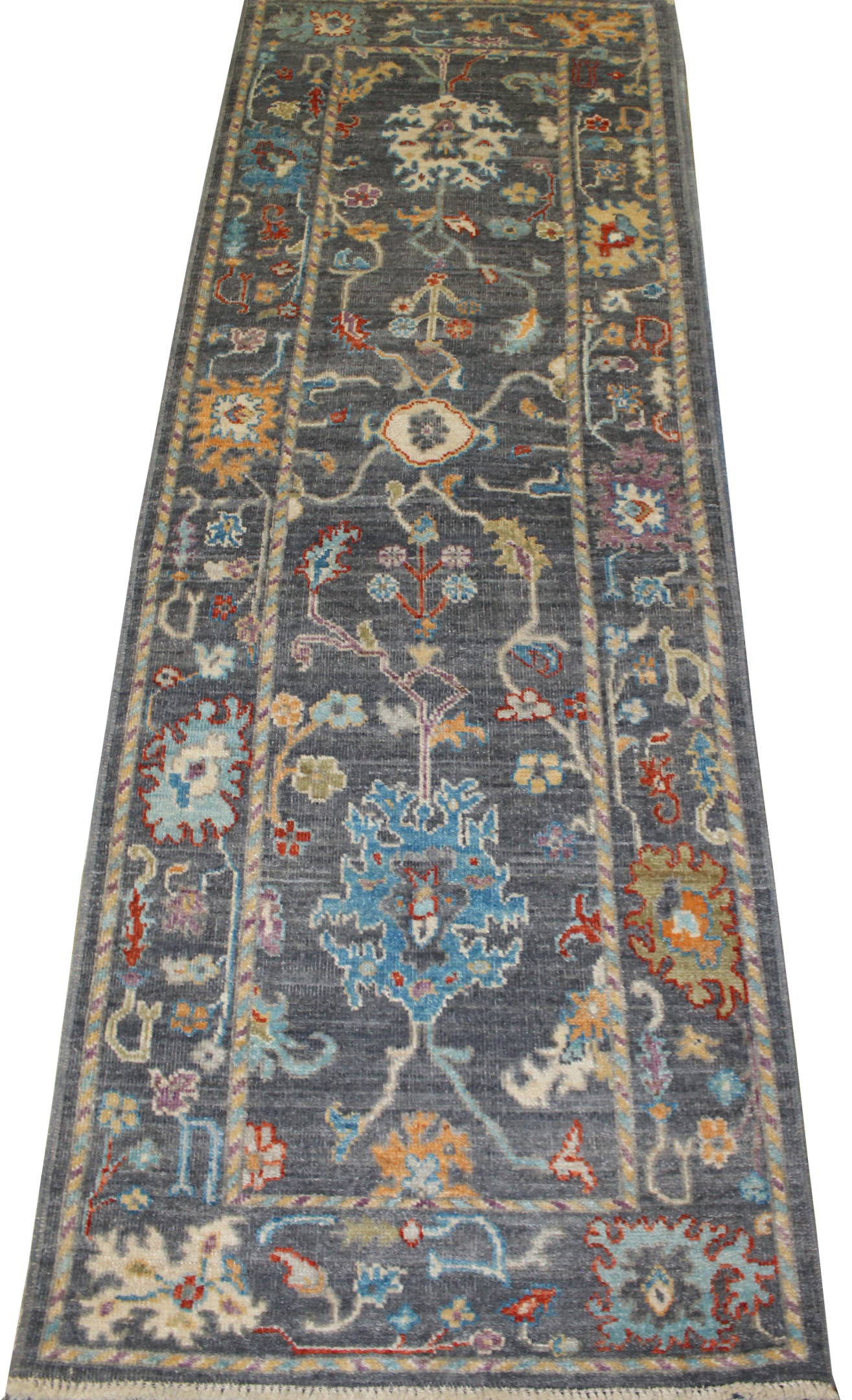 8 ft. Runner Oushak Hand Knotted Wool Area Rug - MR023707