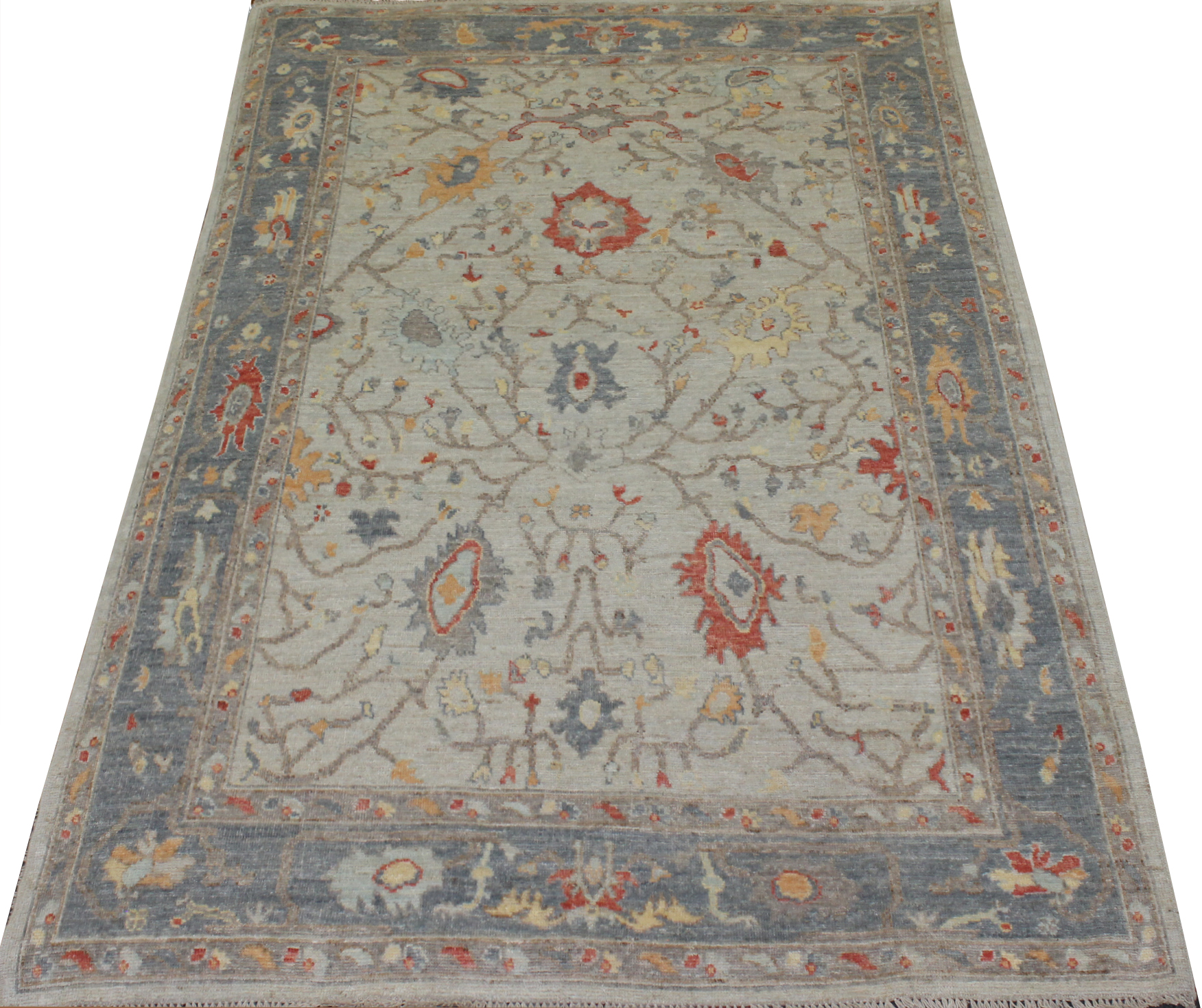 6x9 Oushak Hand Knotted Wool Area Rug - MR023723