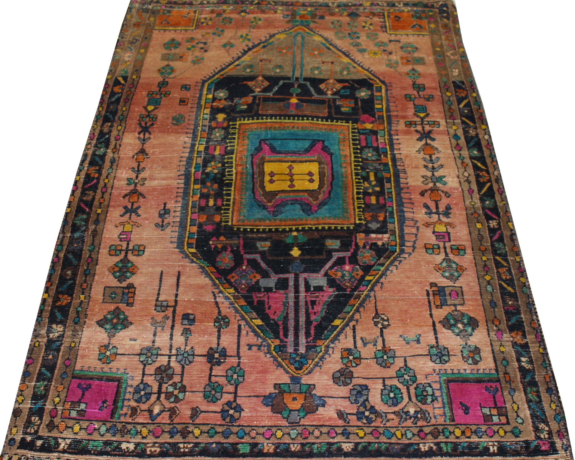 5x7/8 Vintage Hand Knotted Wool Area Rug - MR023736