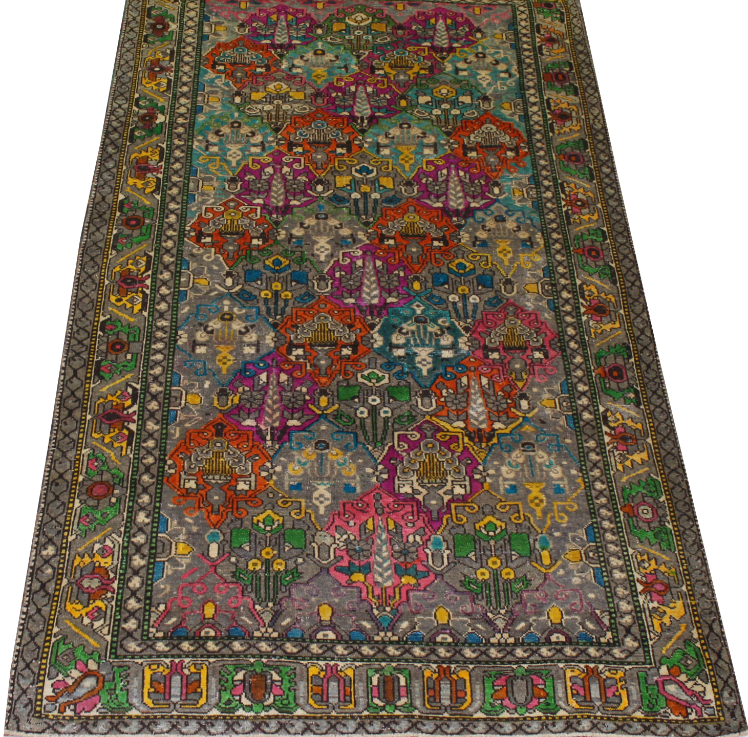 6x9 Vintage Hand Knotted Wool Area Rug - MR023738