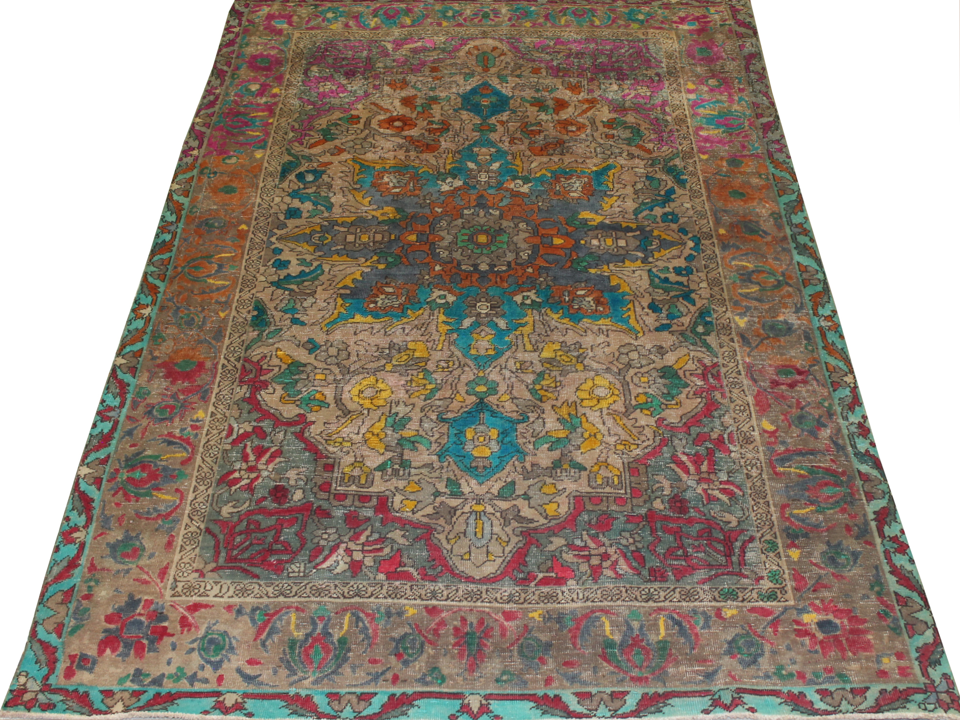 8x10 Vintage Hand Knotted Wool Area Rug - MR023740