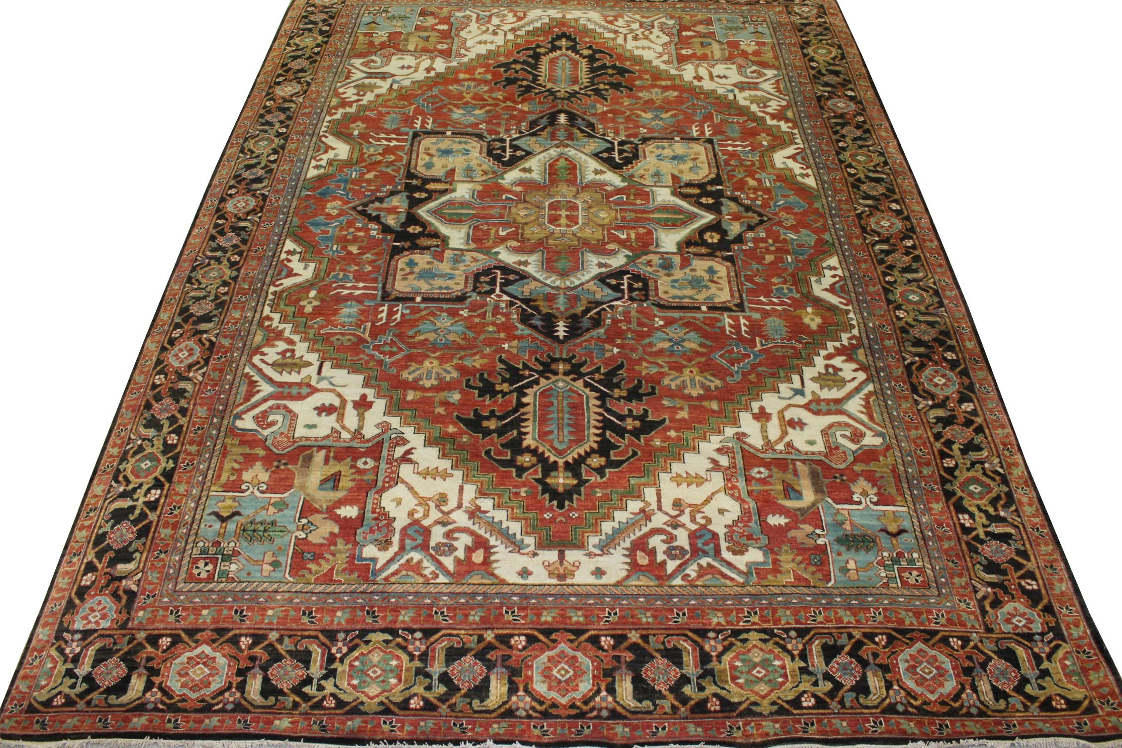 10x14 Heriz/Serapi Hand Knotted Wool Area Rug - MR023760