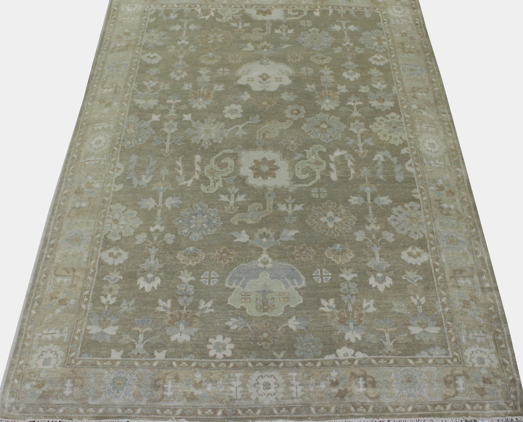 6x9 Oushak Hand Knotted Wool Area Rug - MR023767