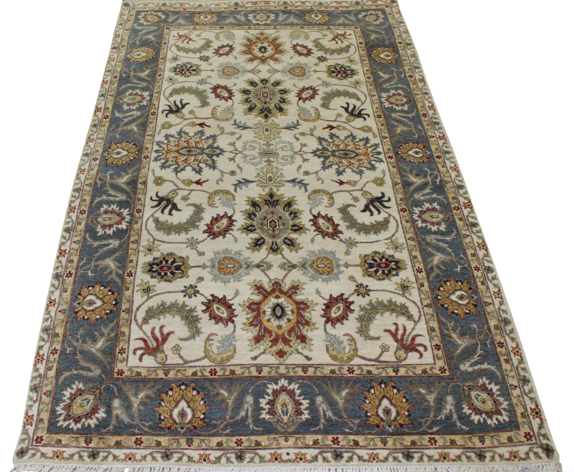 5x7/8 Traditional Hand Knotted Wool Area Rug - MR023828