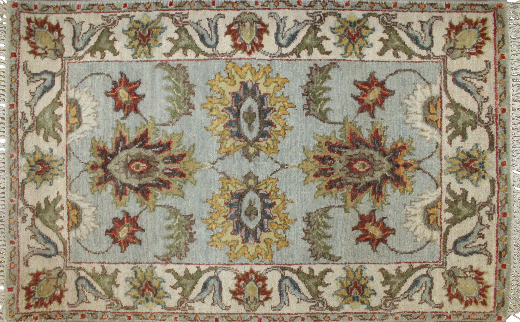2X3 Traditional Hand Knotted Wool Area Rug - MR023829