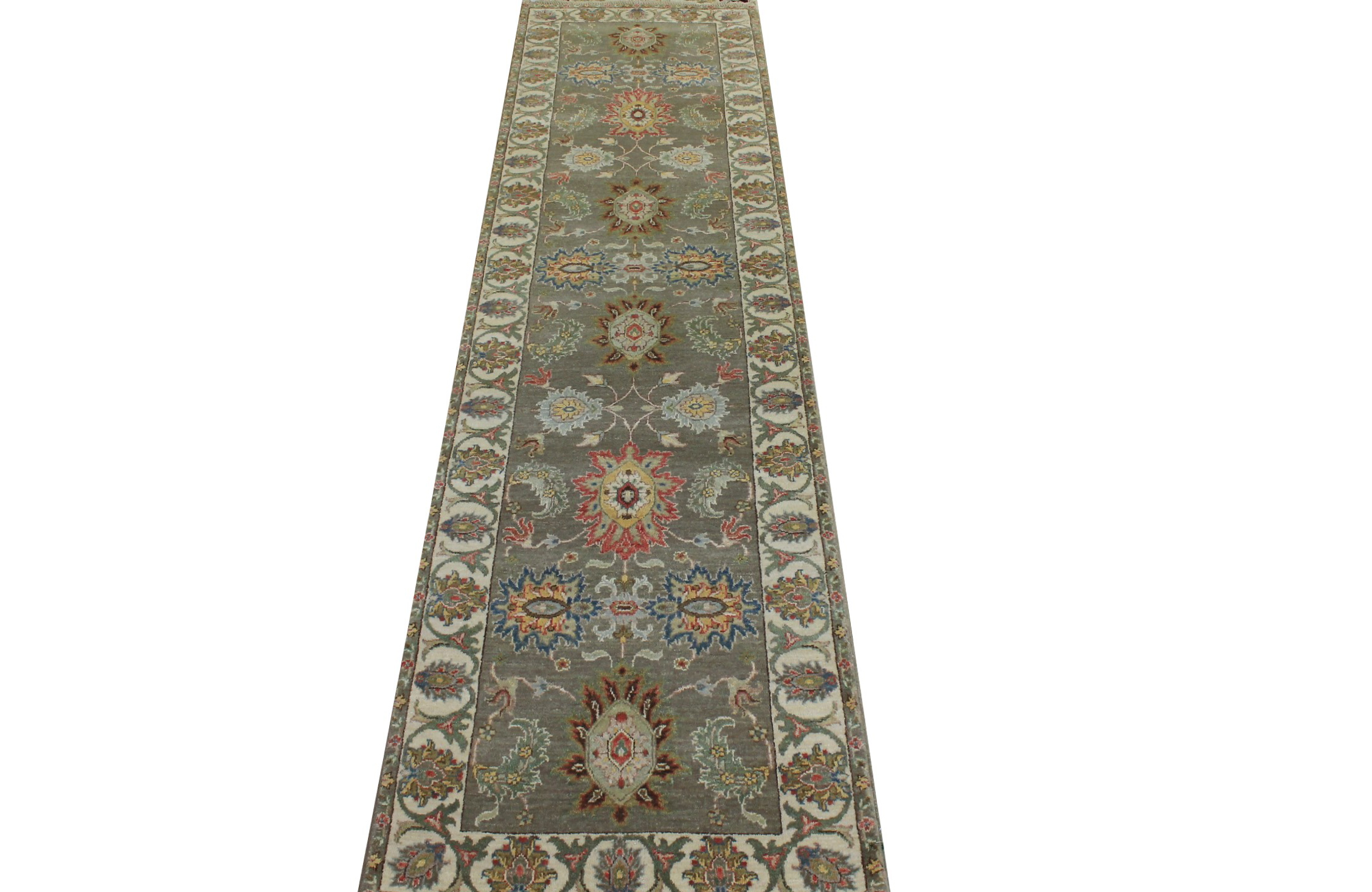 10 ft. Runner Traditional Hand Knotted Wool Area Rug - MR024040