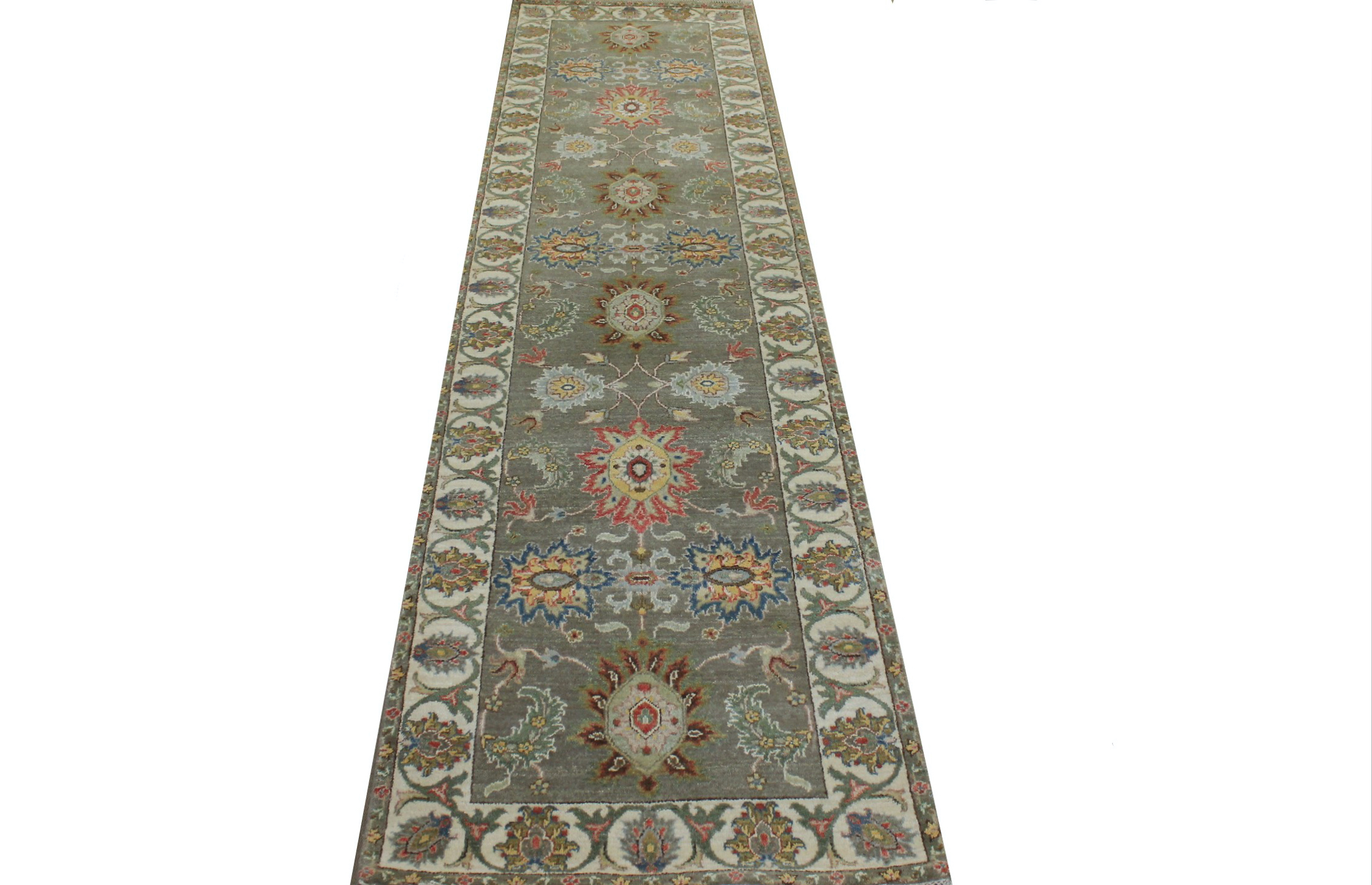 10 ft. Runner Traditional Hand Knotted Wool Area Rug - MR024041