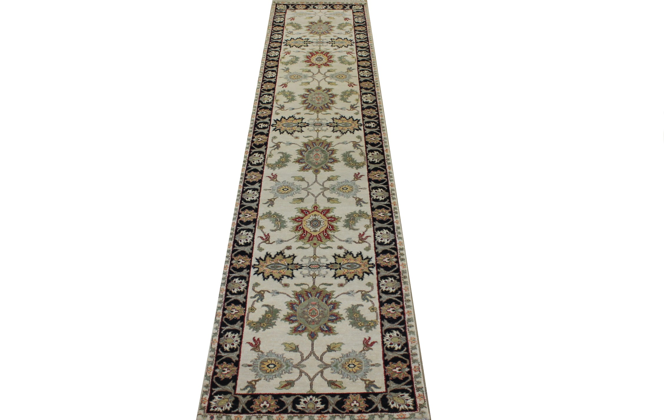 12 ft. Runner Traditional Hand Knotted Wool Area Rug - MR024043