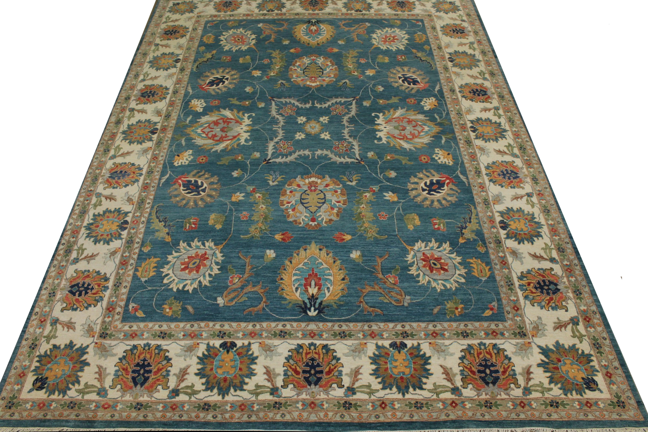 10x14 Traditional Hand Knotted Wool Area Rug - MR024057