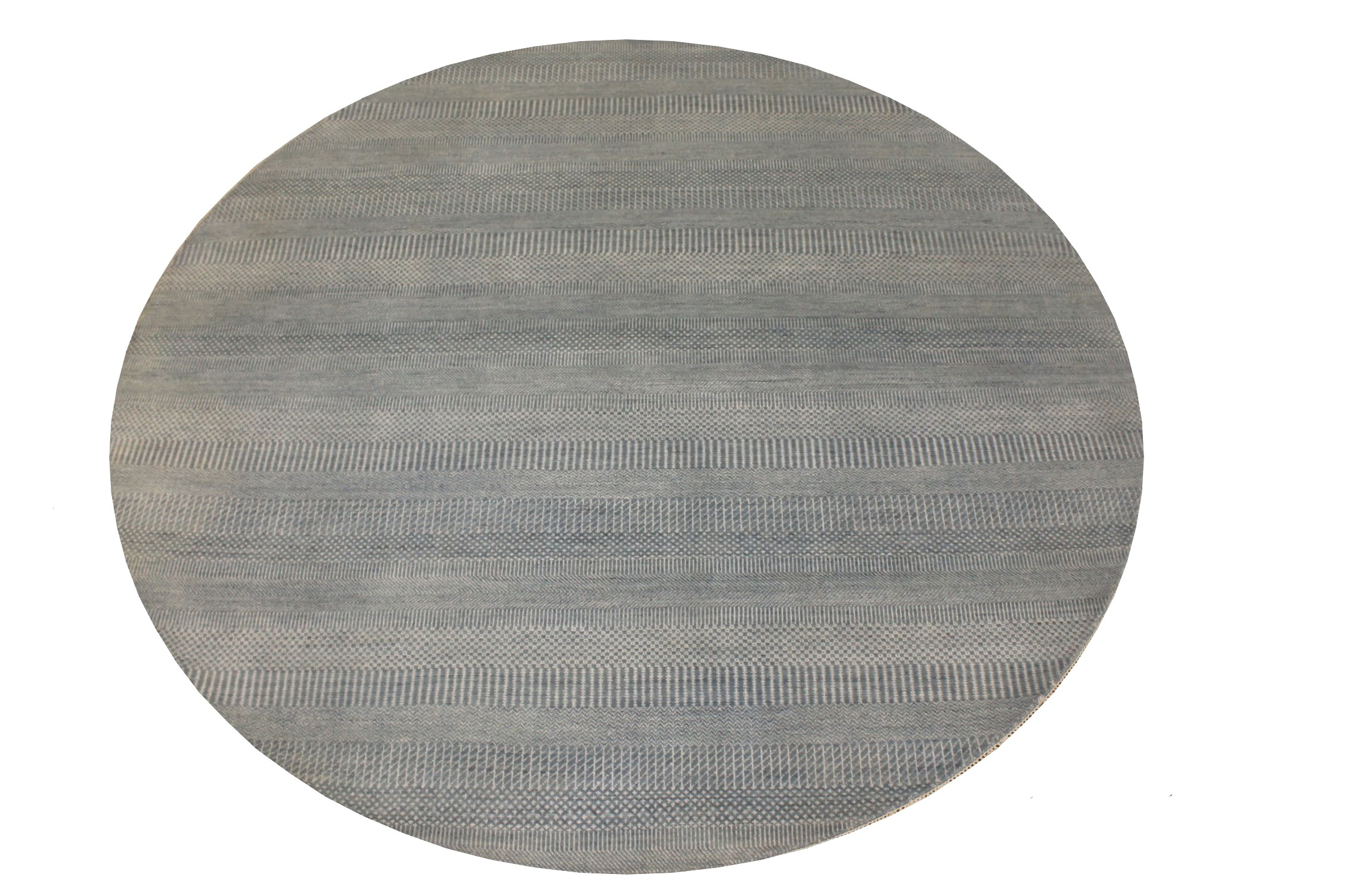 8 ft. Round & Square Casual Hand Knotted Wool & Viscose Area Rug - MR024071